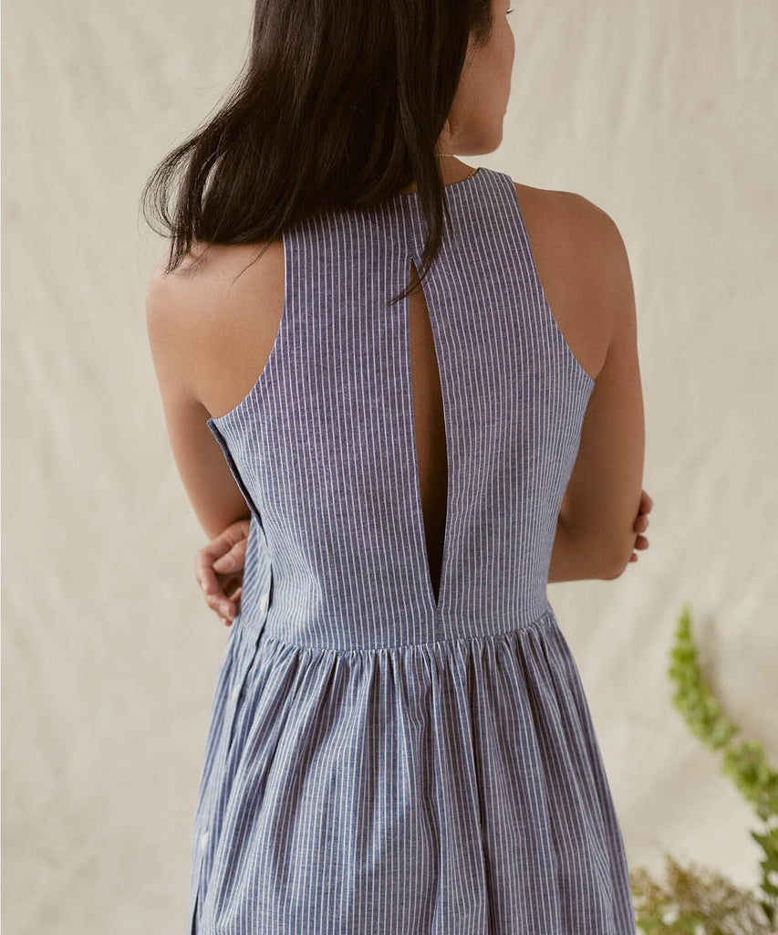The Katie Dress | Woven Sea Stripe