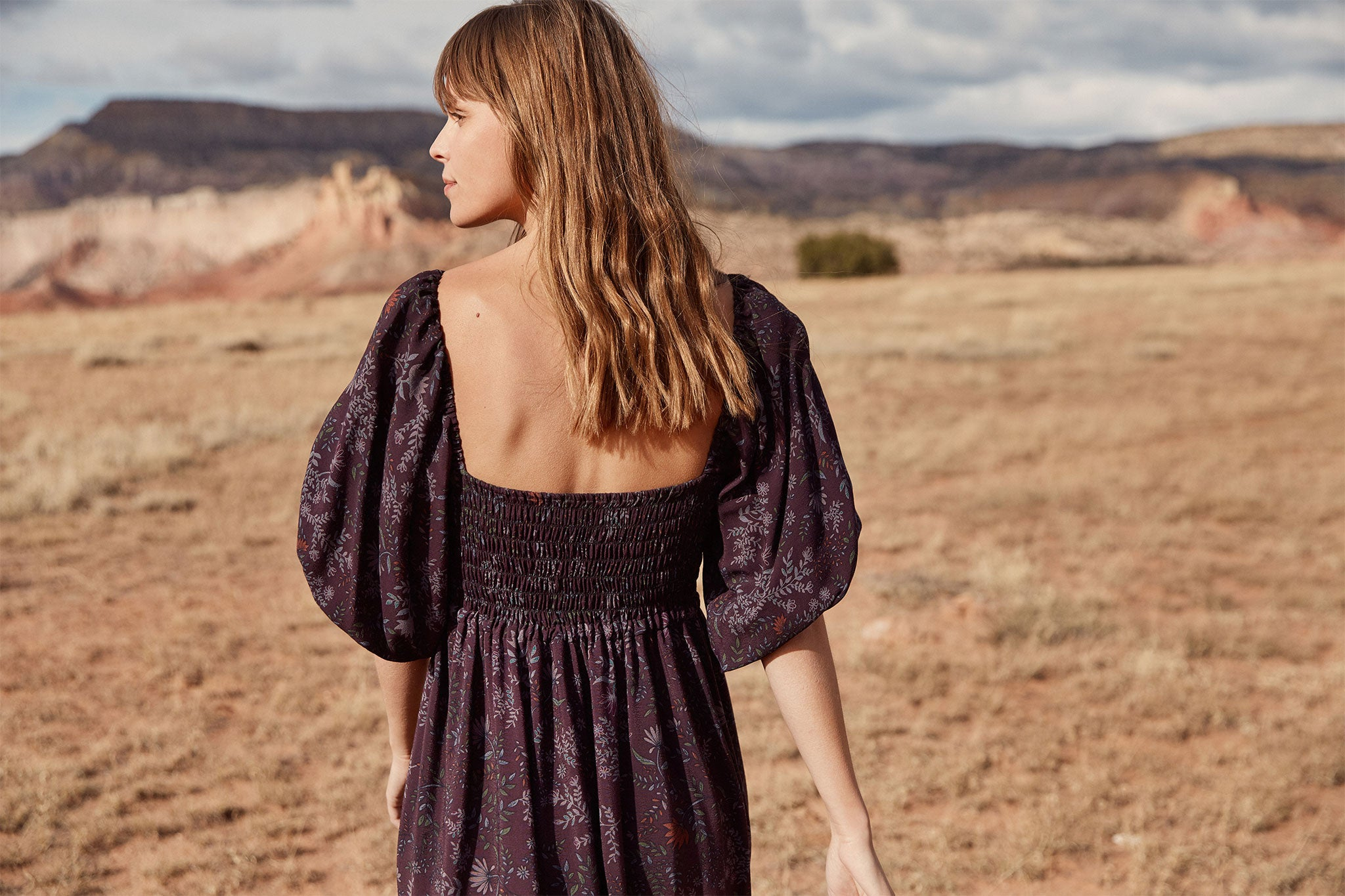 The Katrina Dress | Elderberry Floral