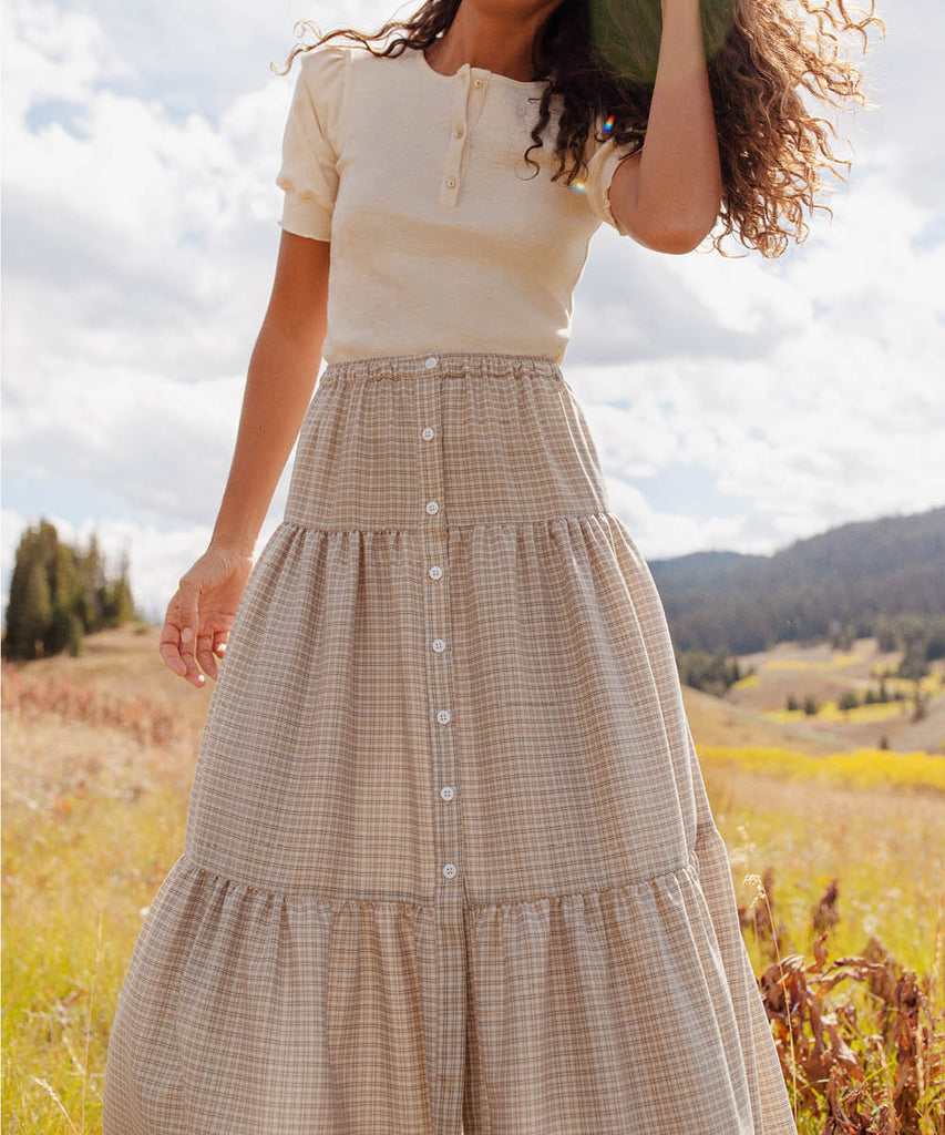 The Laurel Skirt | Sepia Plaid