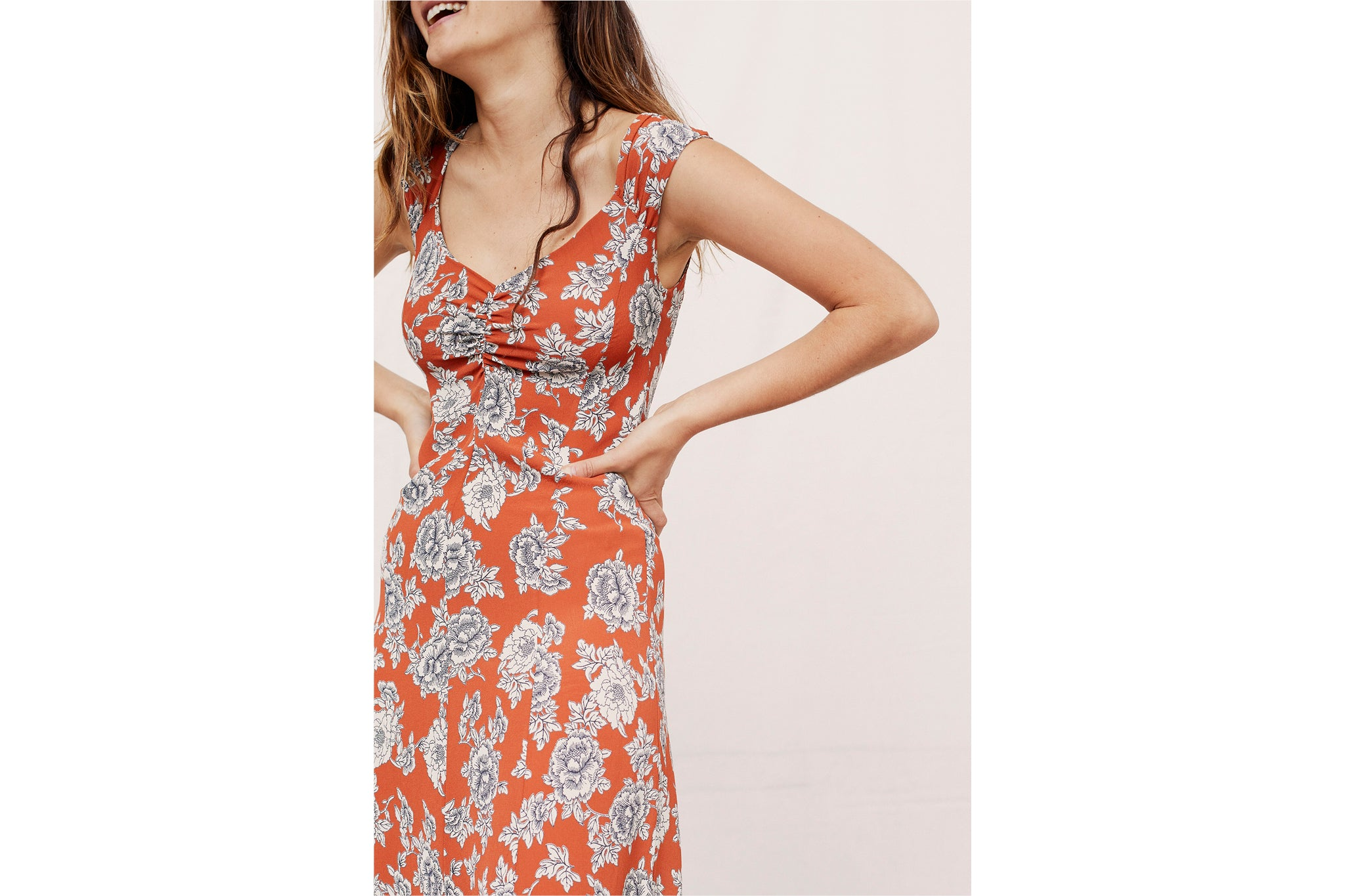 The Layla Dress | Rust Peony