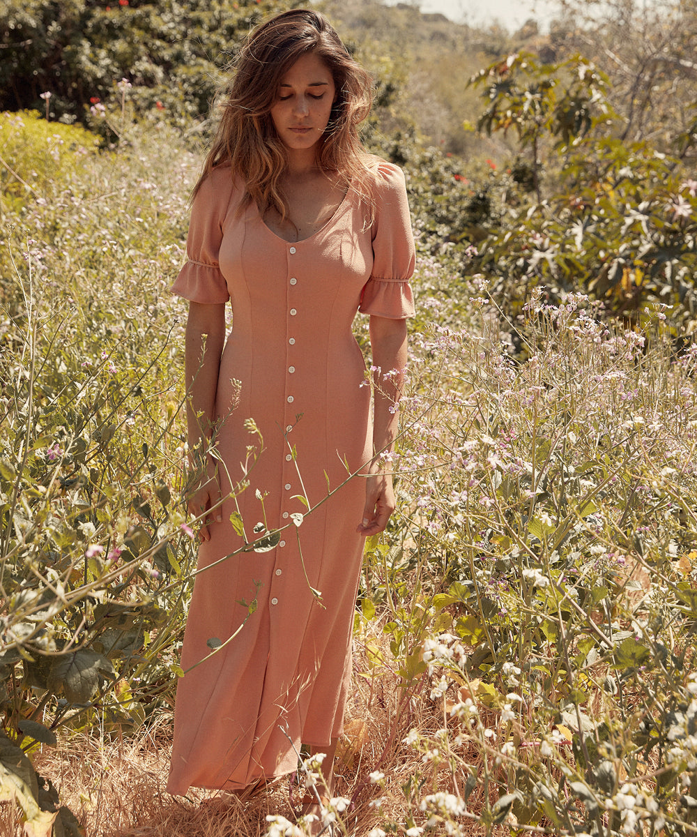 The Lennon Dress | Peach