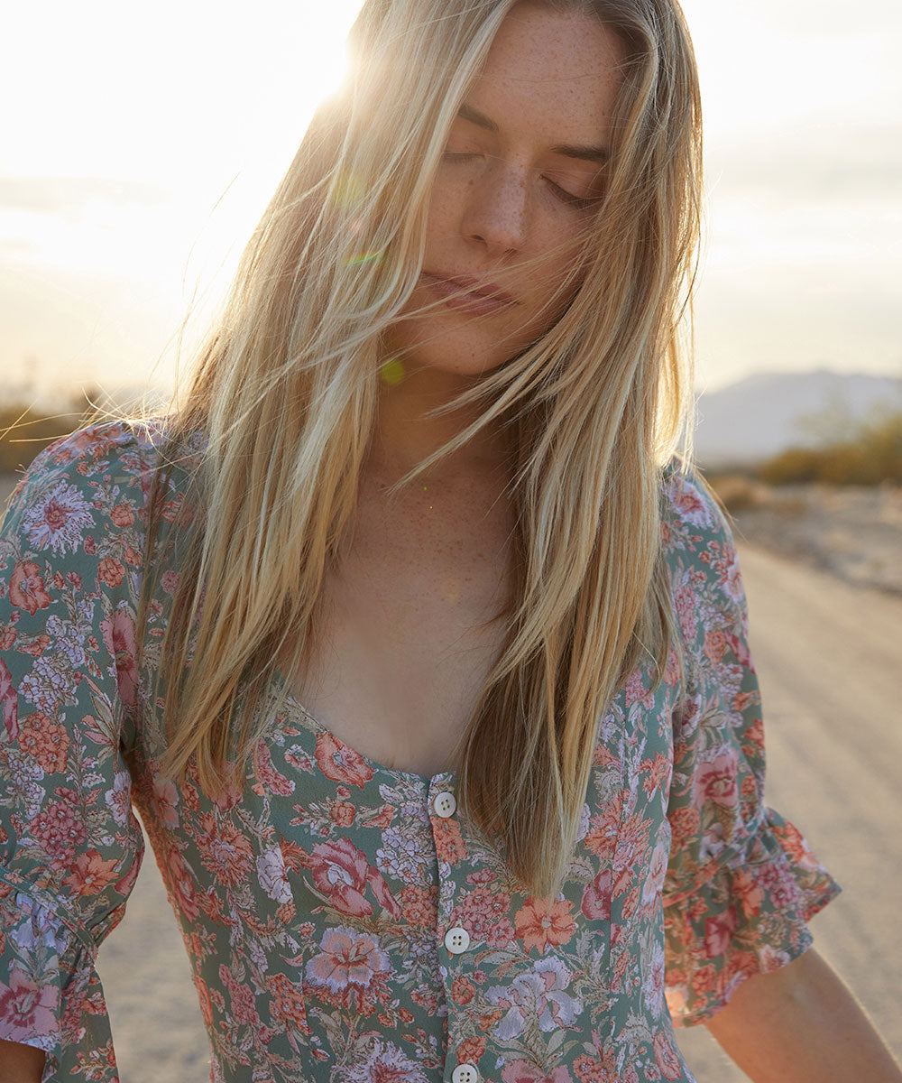 The Lennon Dress | Aloe Floral