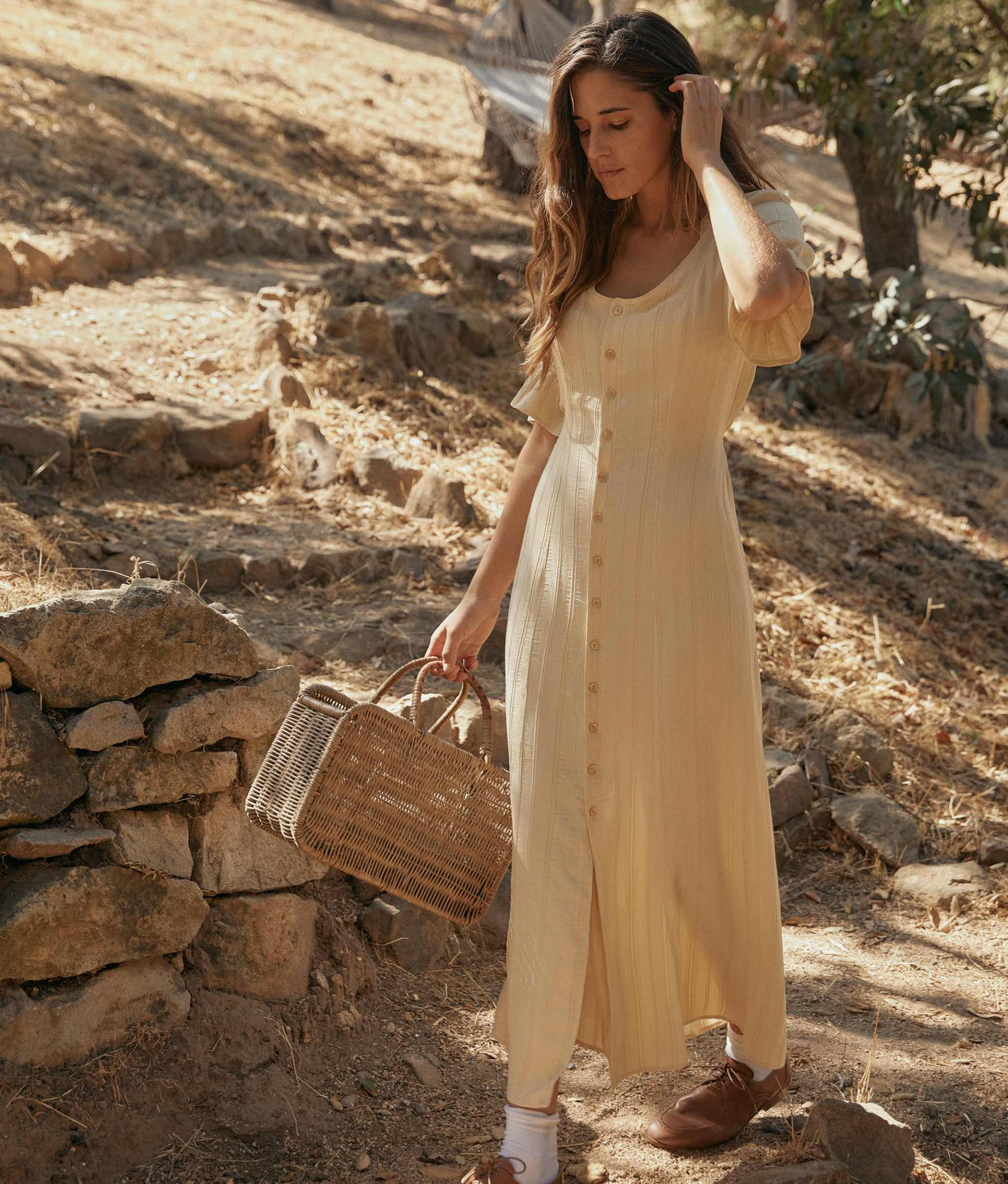 The Lennon Dress | Buttercup Stripe