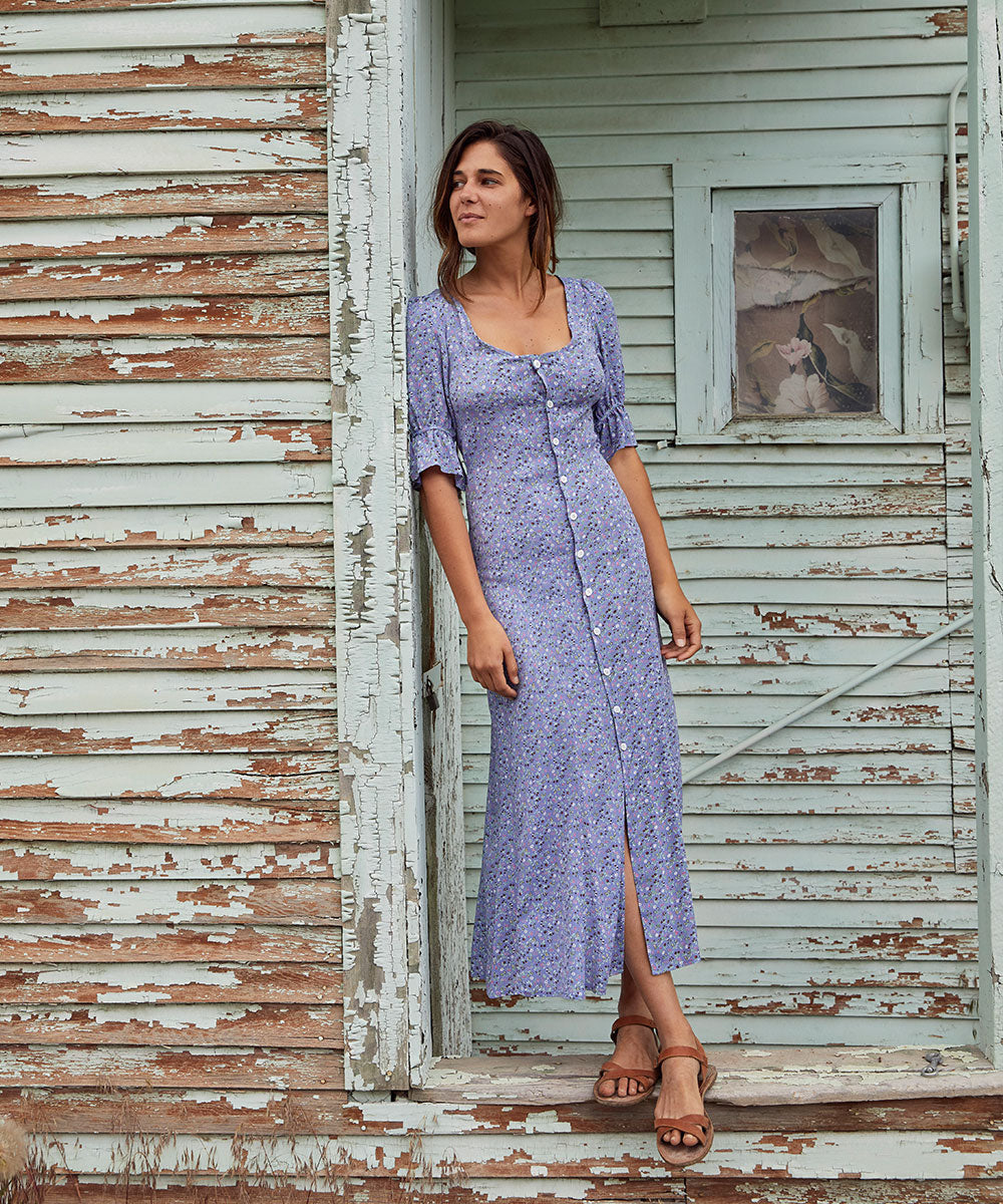 The Lennon Dress | Dusk Ditsy