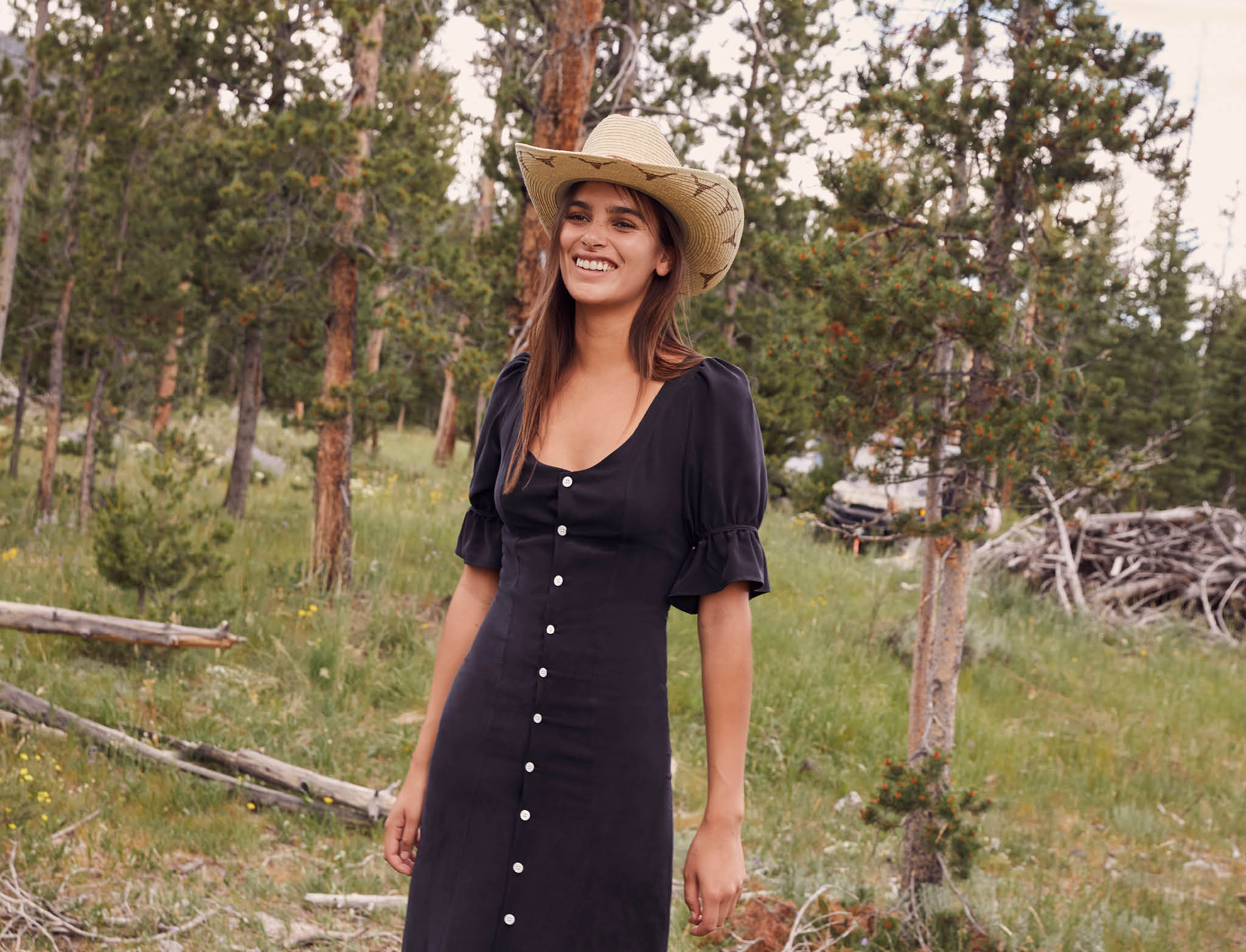 The Lennon Dress | Charcoal Silk