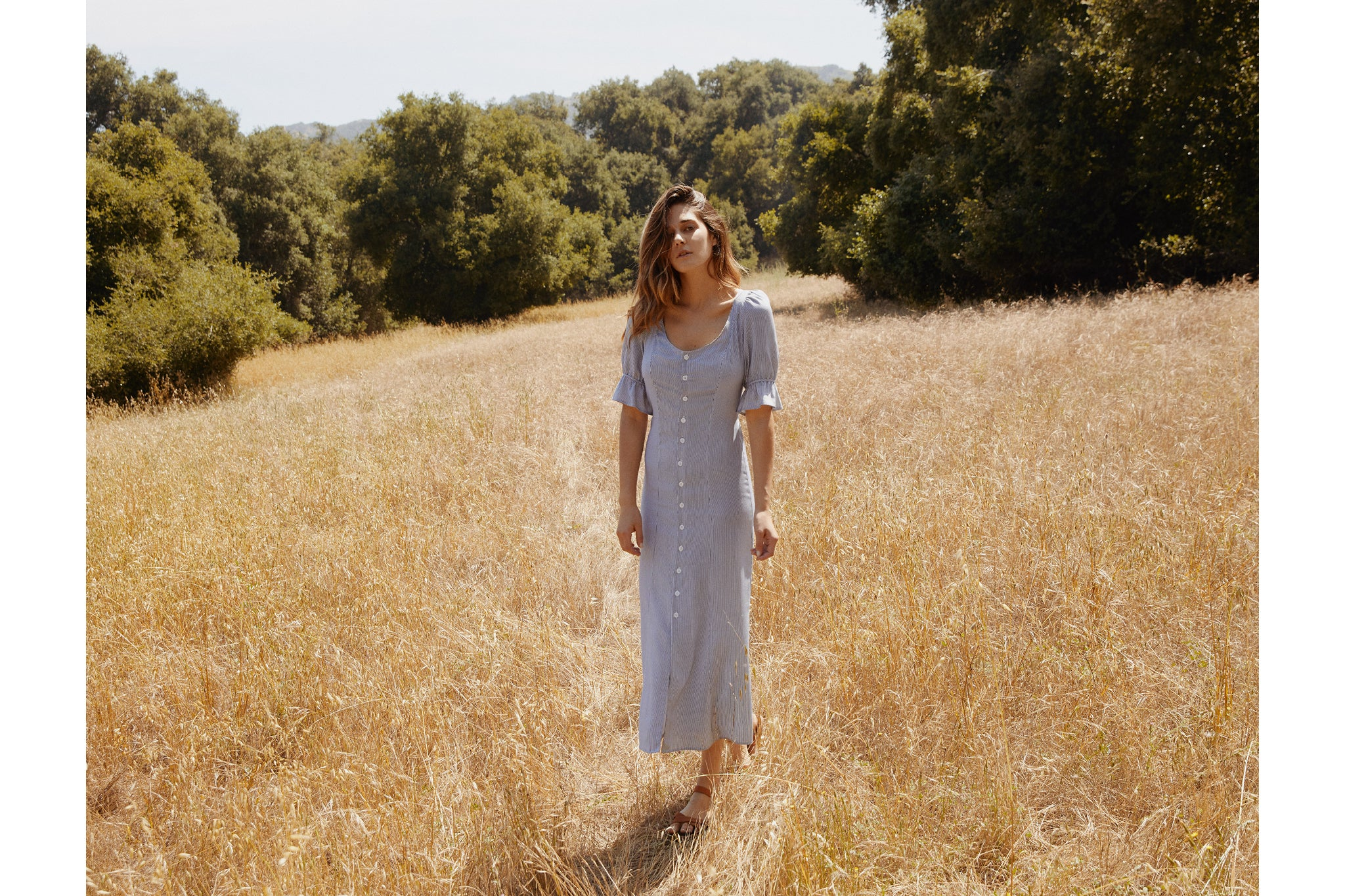 The Lennon Dress | Raven Stripe