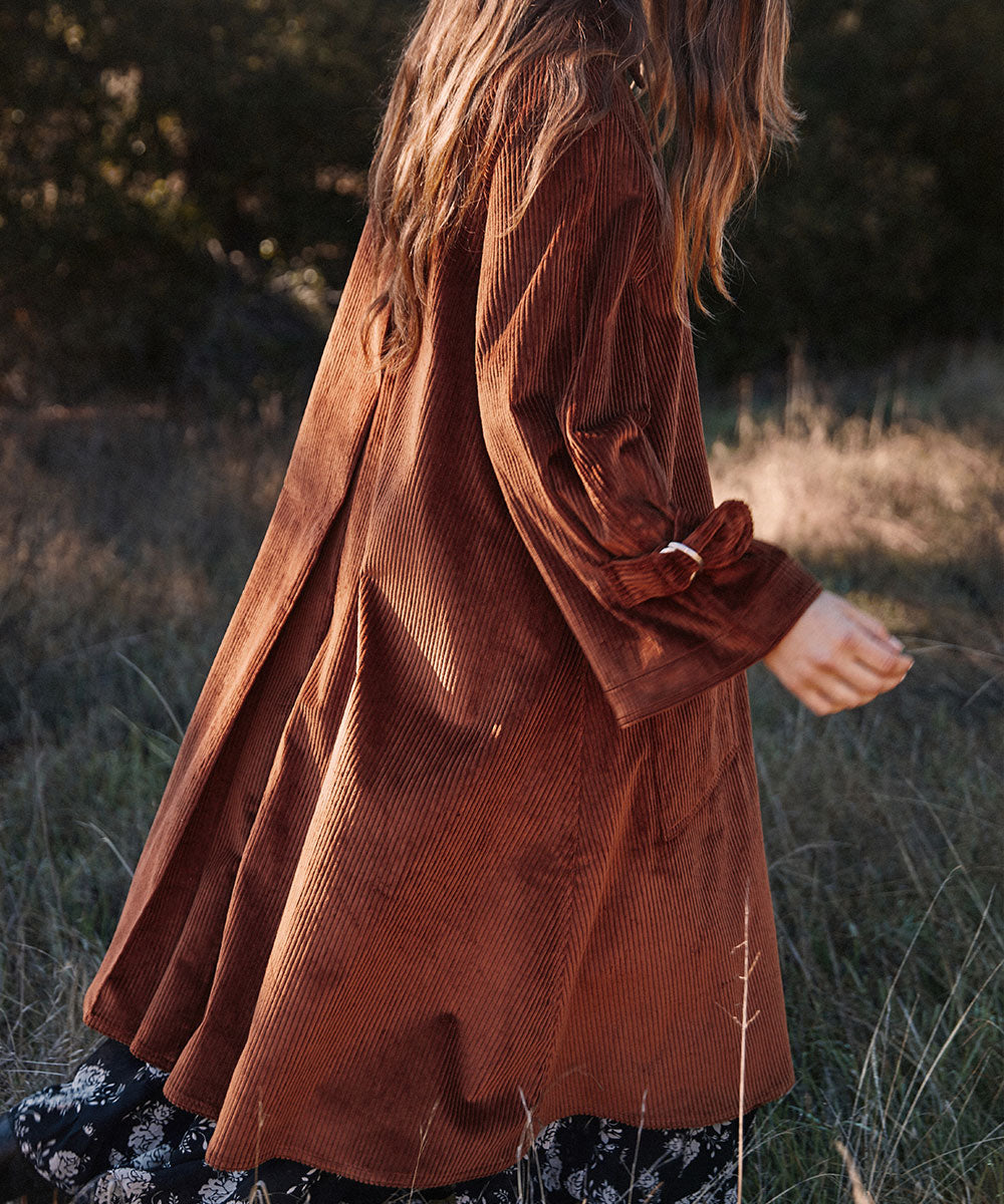 The Leona Trench | Umber Corduroy