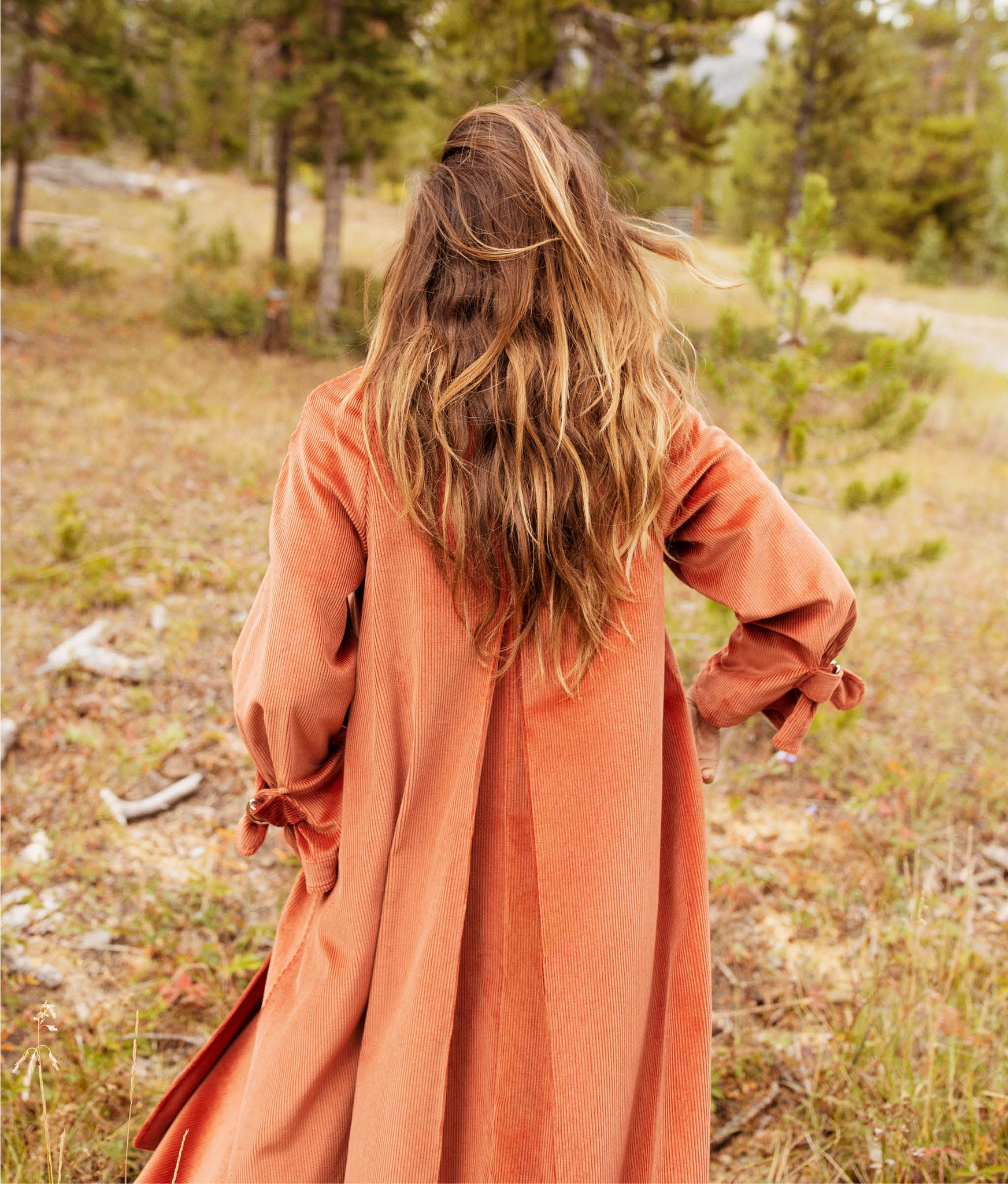 The Leona Trench | Dusty Rose Corduroy