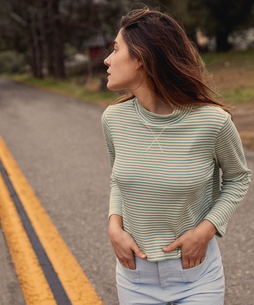 The Libby Top | Woven Linden Stripe image 8