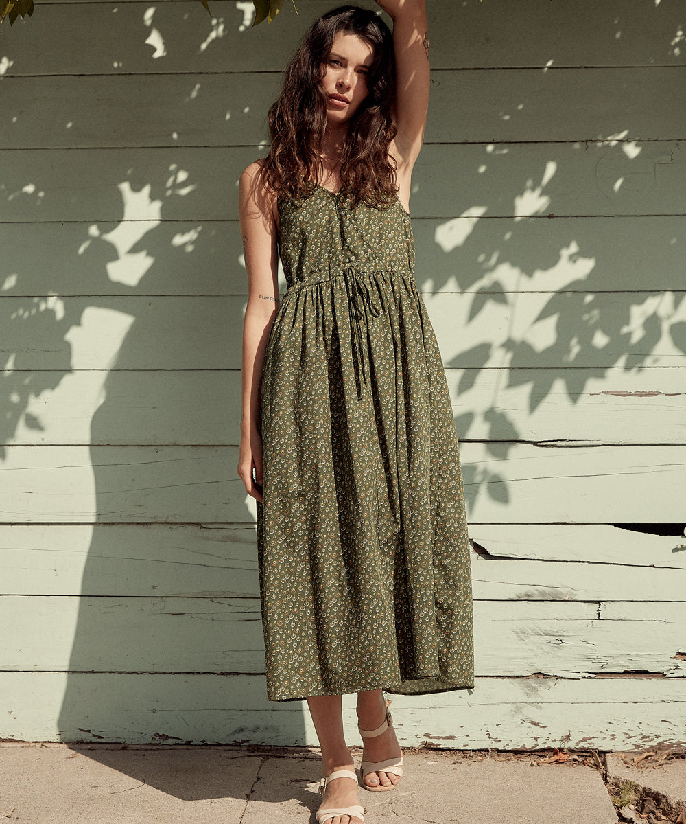 The Lincoln Dress | Dandelion Moss