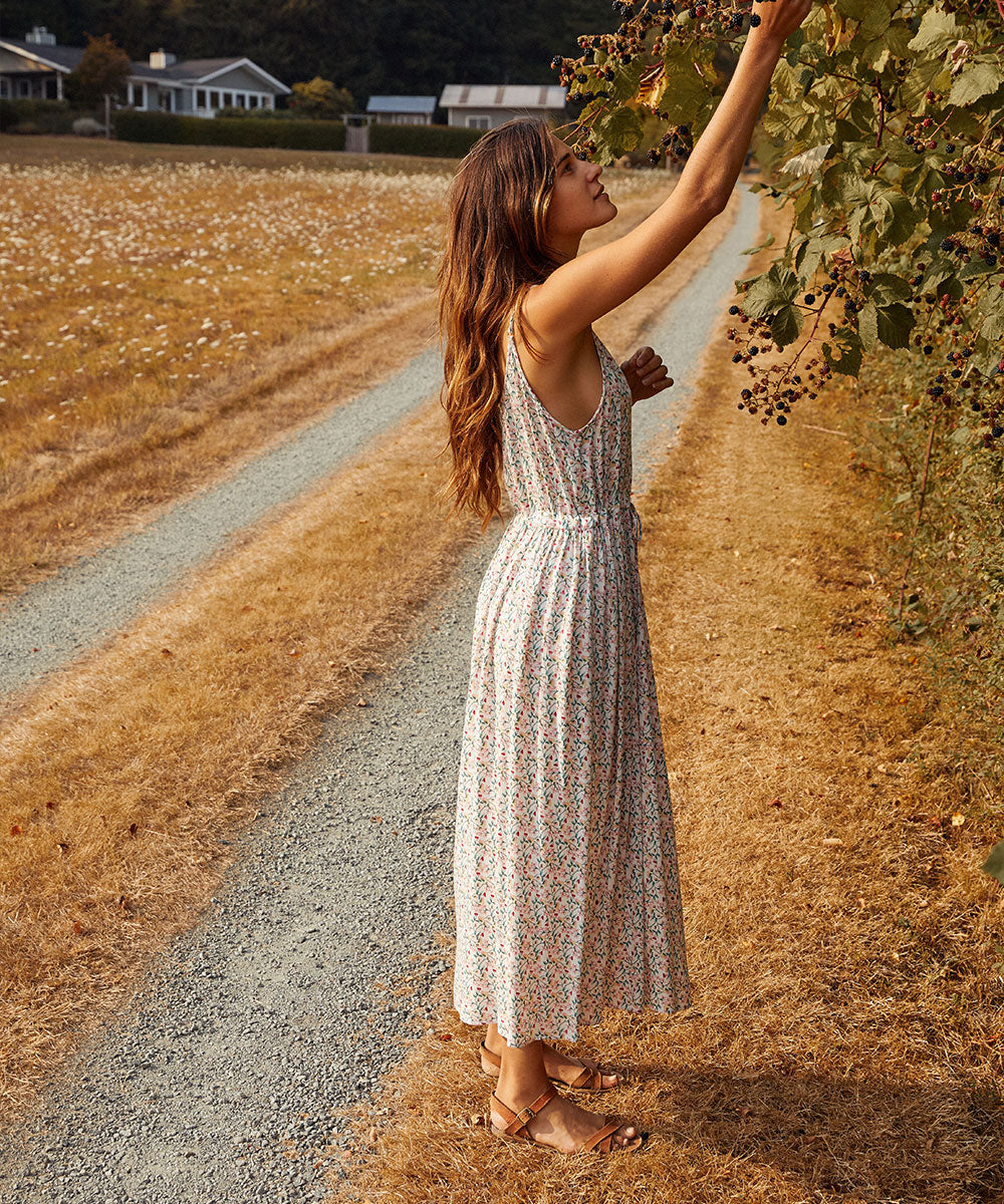 The Lincoln Dress | Blush Floral
