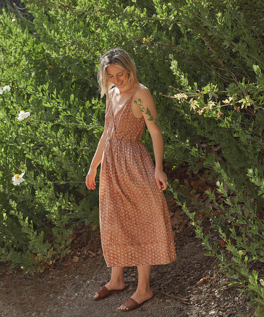 The Lincoln Dress | Rust Meadow (Hand Blocked) image 6