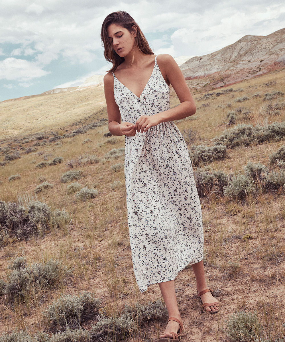 The Lincoln Dress | Sky Daffodil