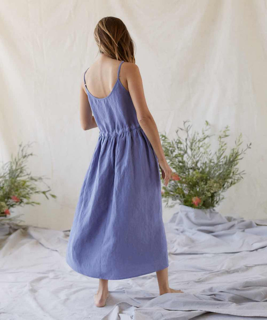 The Lincoln Dress | Periwinkle Linen