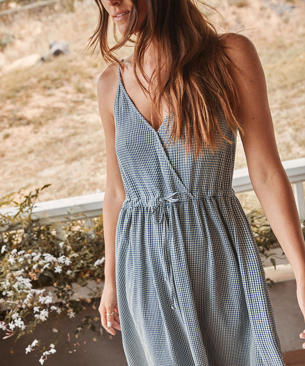 The Lincoln Dress | Lapis Gingham
