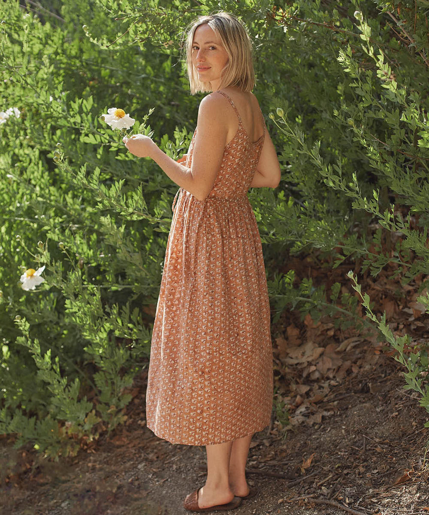 The Lincoln Dress | Rust Meadow (Hand Blocked) image 8