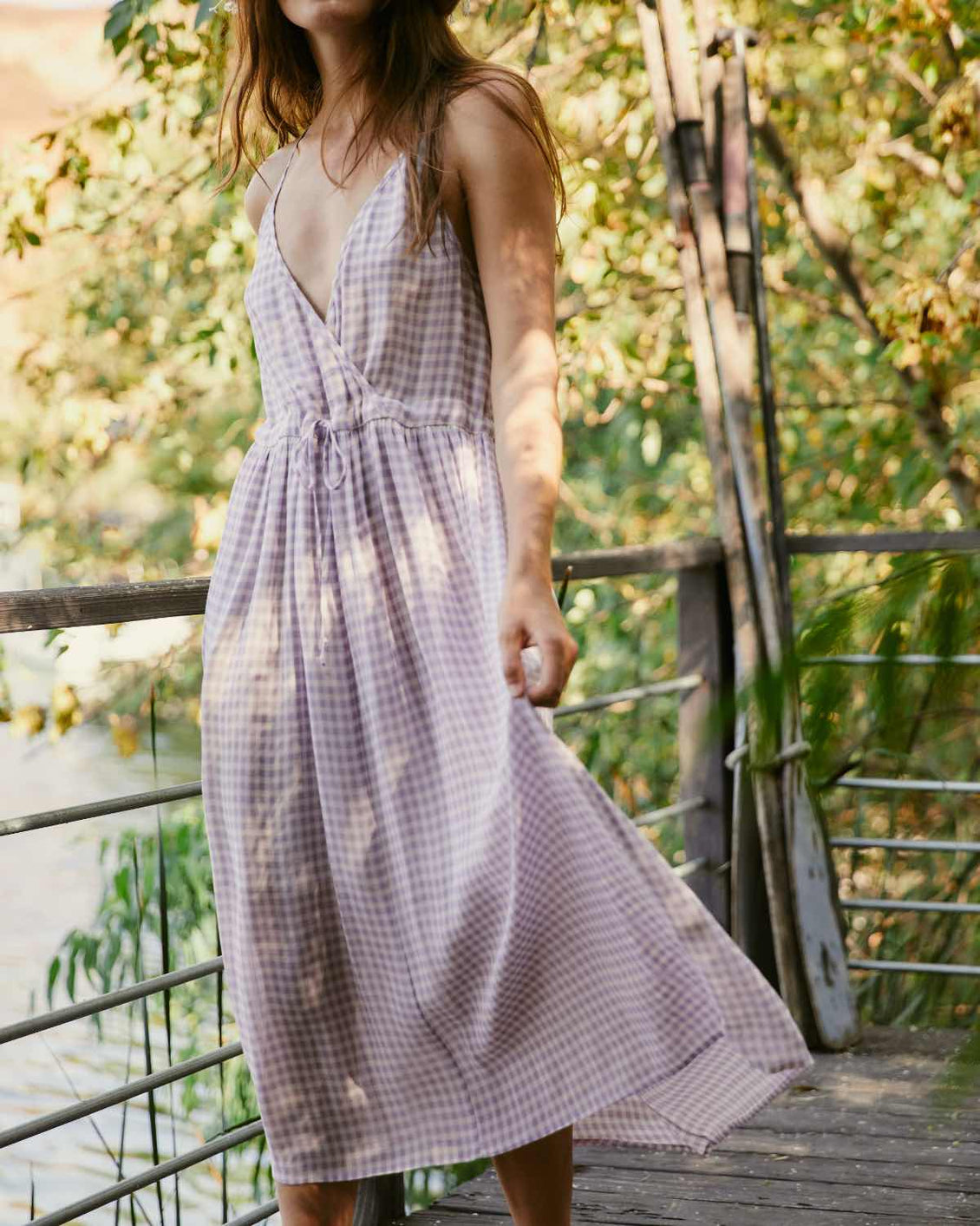 The Lincoln Dress | Lavender Gingham (Lined)