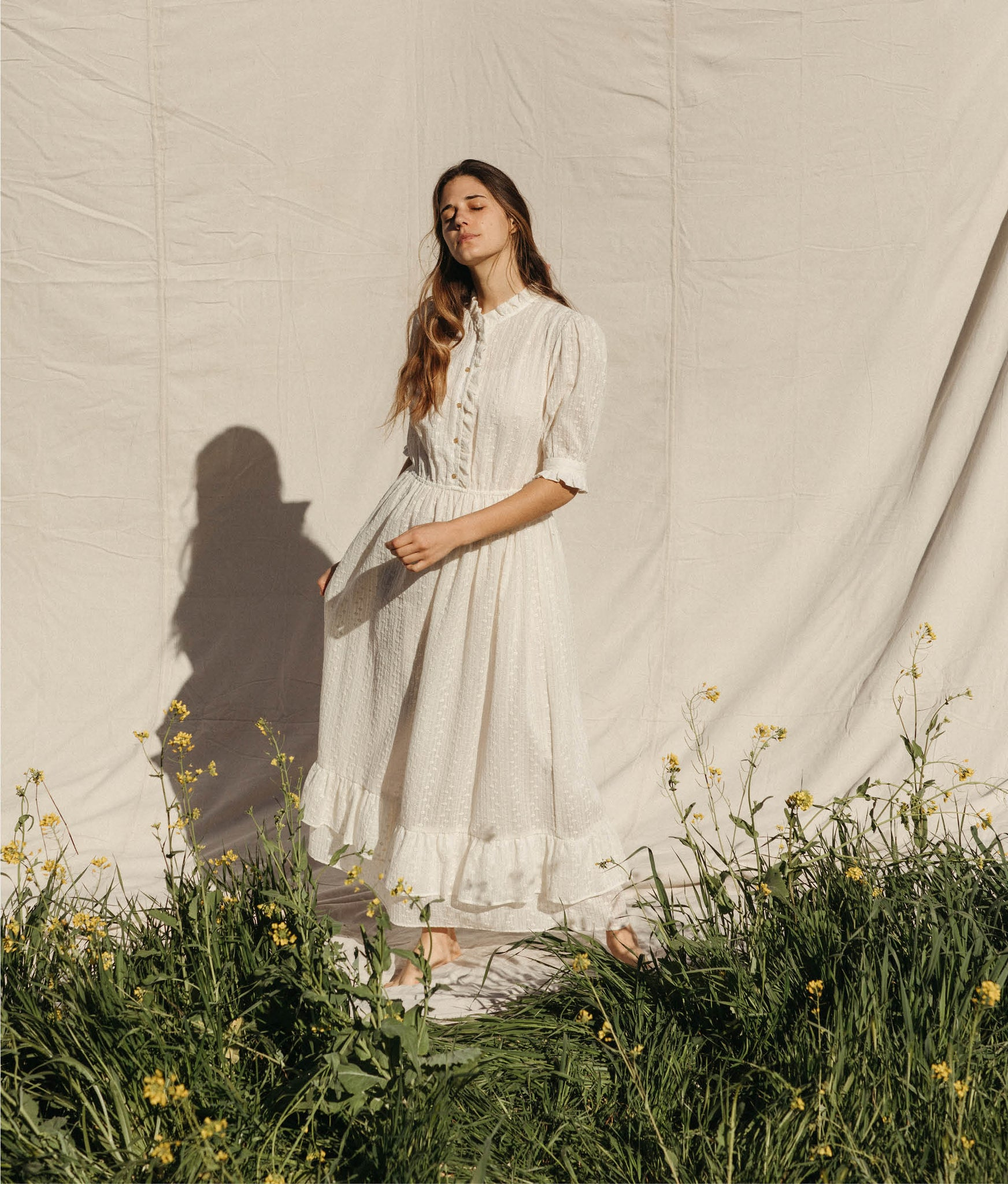 The Linden Dress | Embroidered Blooms (4-of-a-Kind)