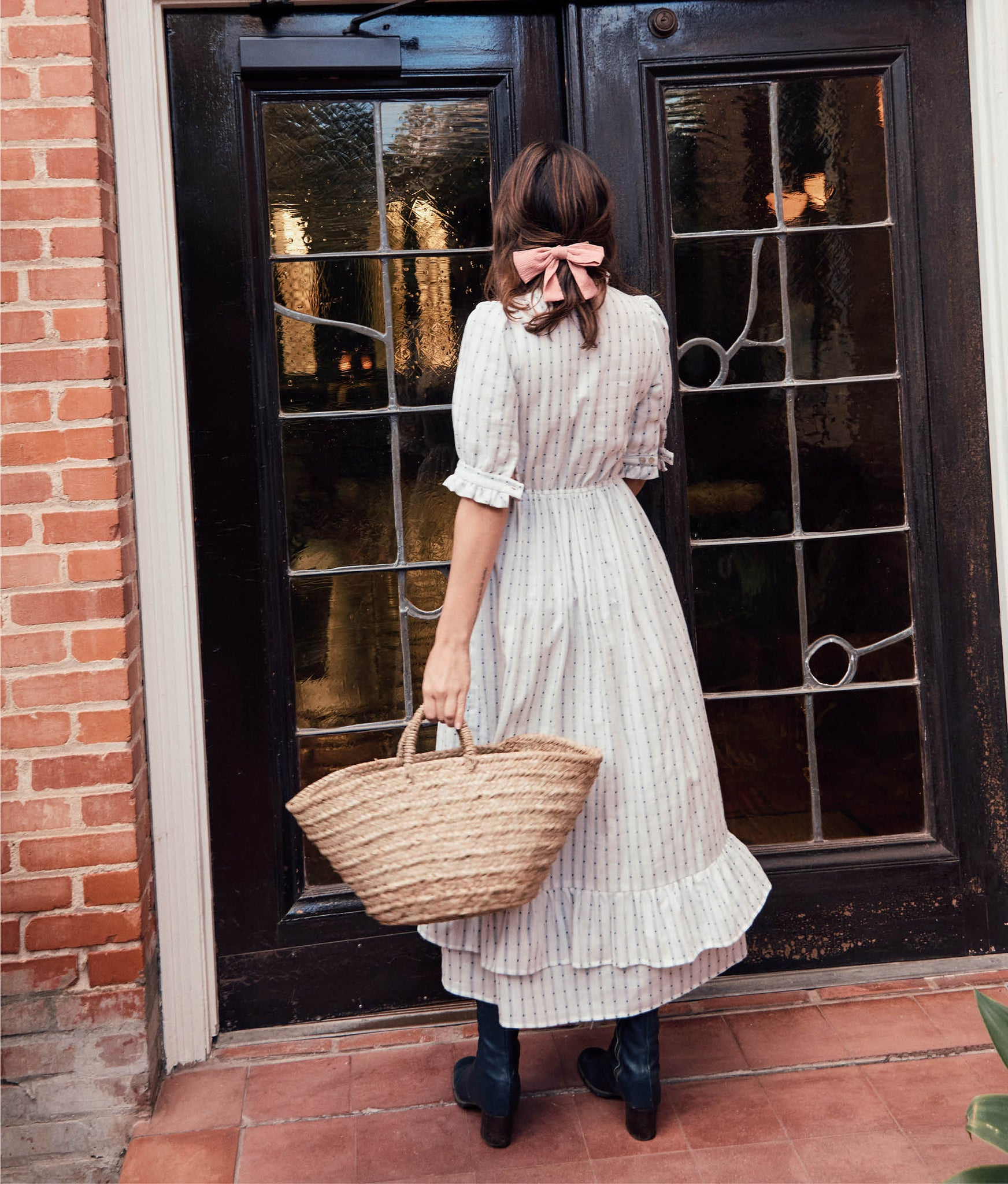 The Linden Dress | Raindrop Stripe