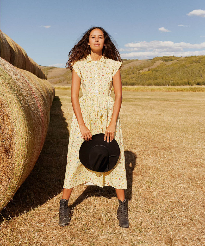The Piper Dress (Long) | Wildflower Field (Cotton)