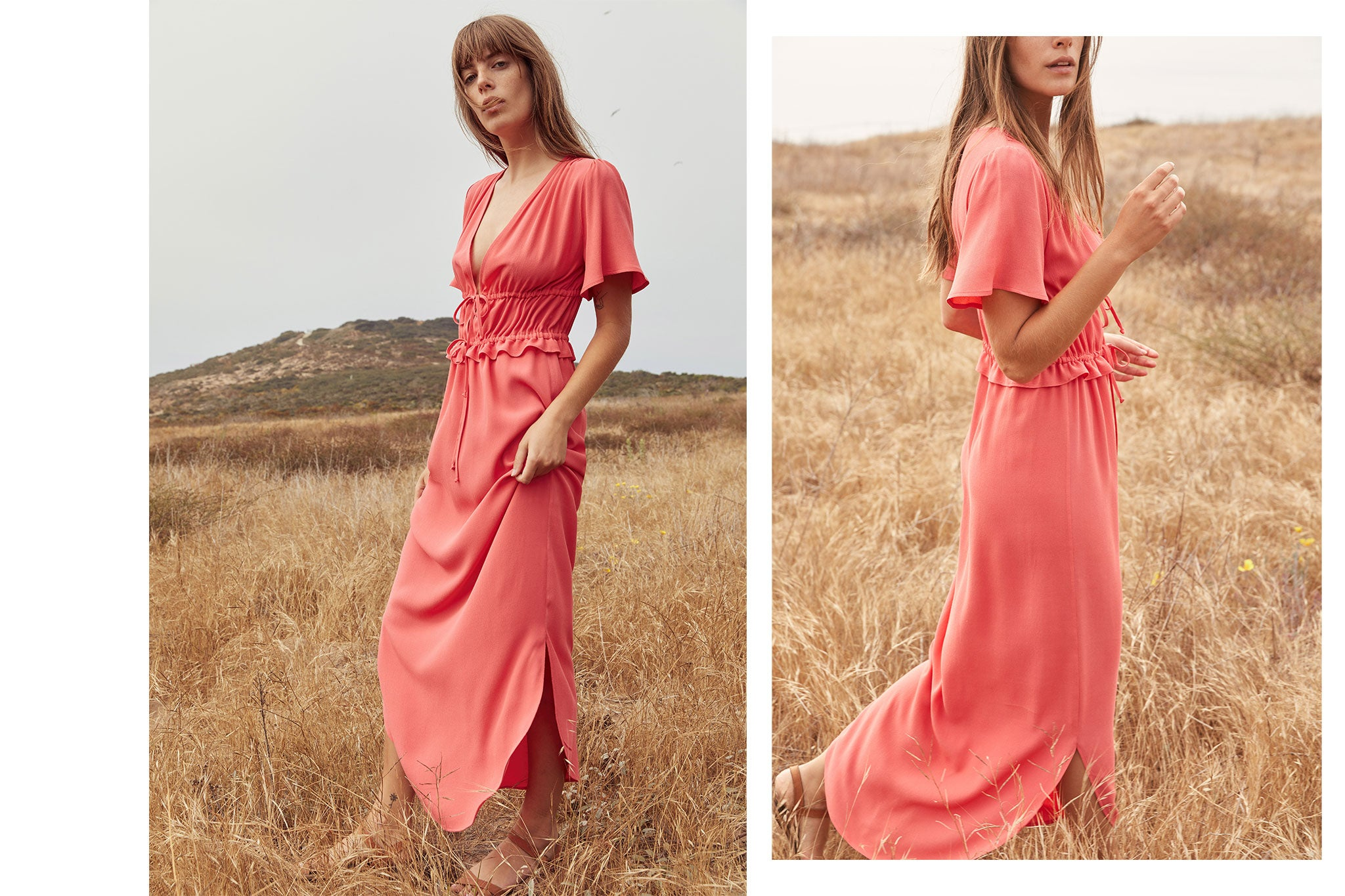 The Loretta Dress | Coral