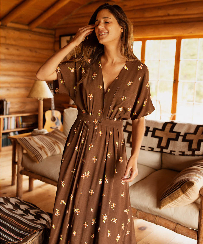 The Lottie Dress | Carob Bloom