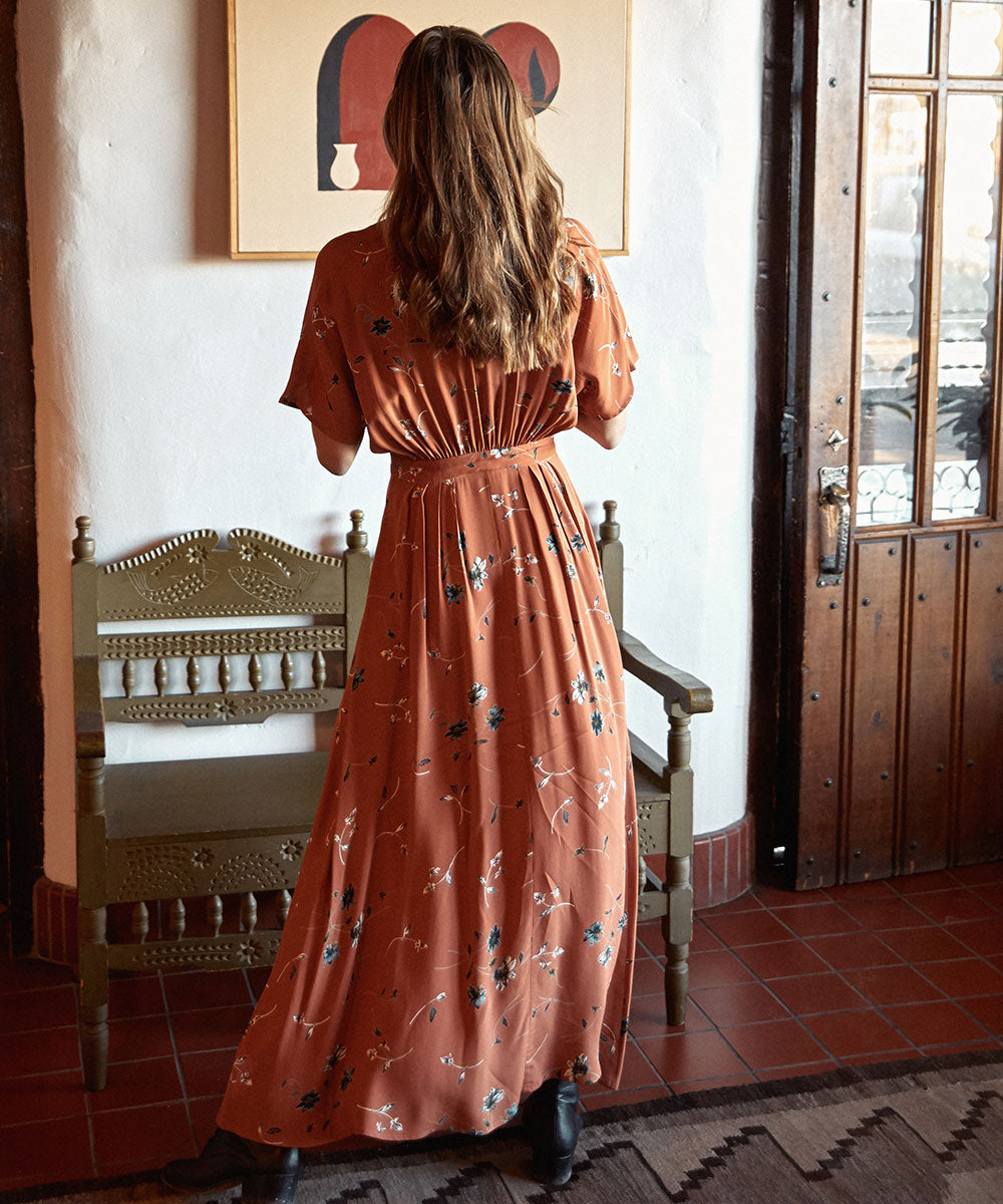 The Lottie Dress | Terracotta Floral