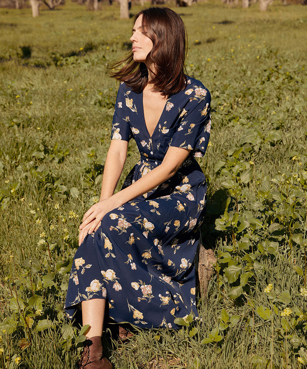 The Lottie Dress | Midnight Poppy