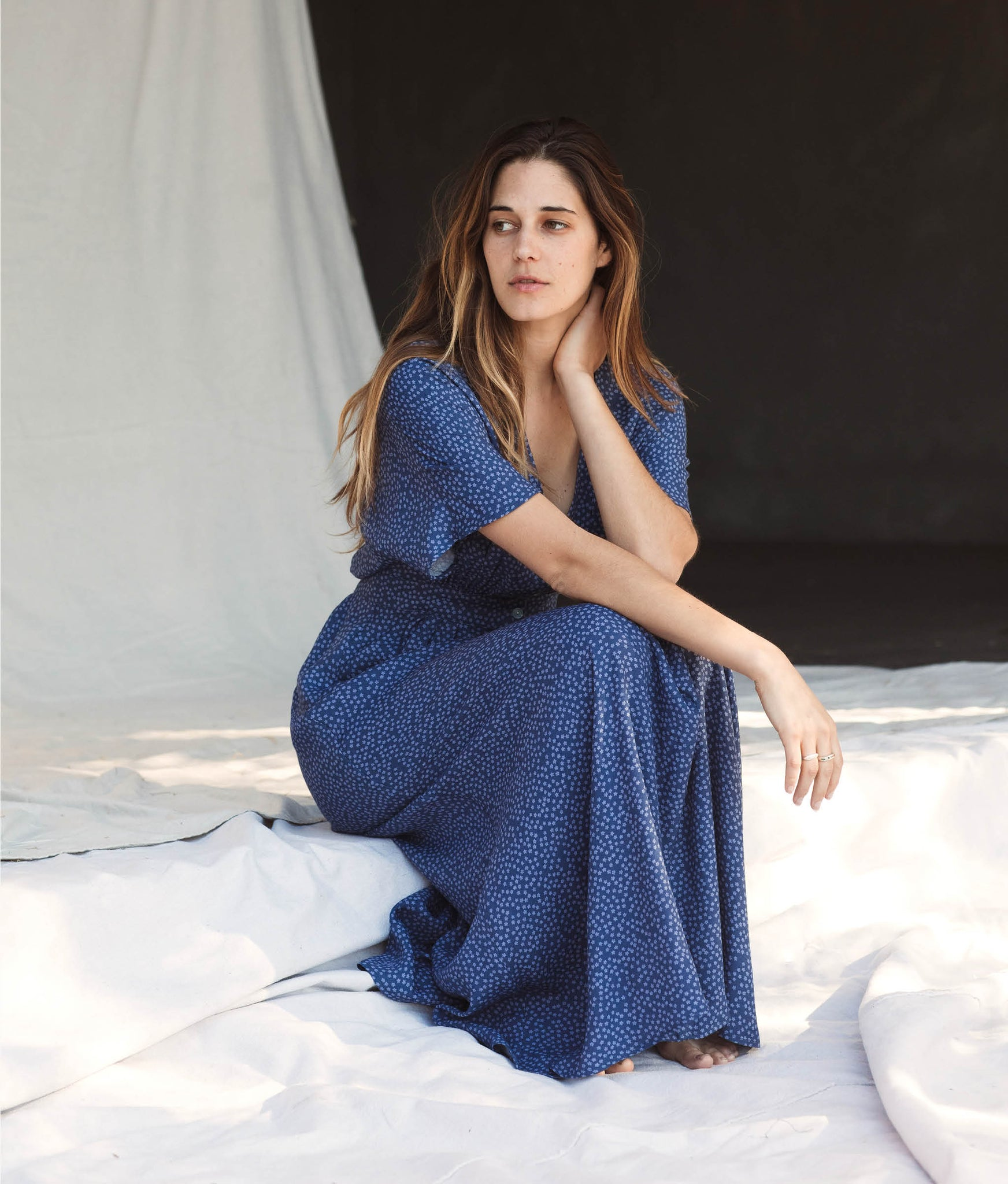 The Lottie Dress | Periwinkle Bloom