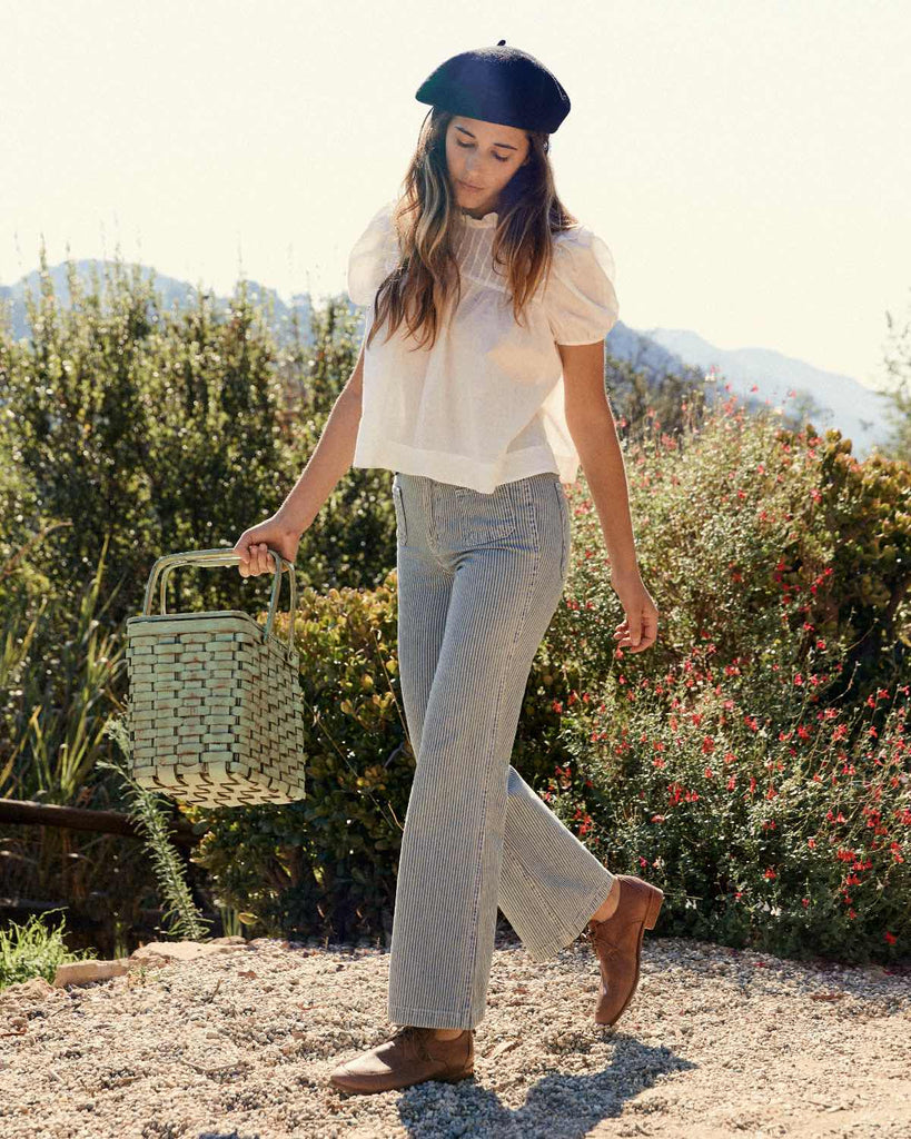 The Lula Jean | Railroad Stripe Denim