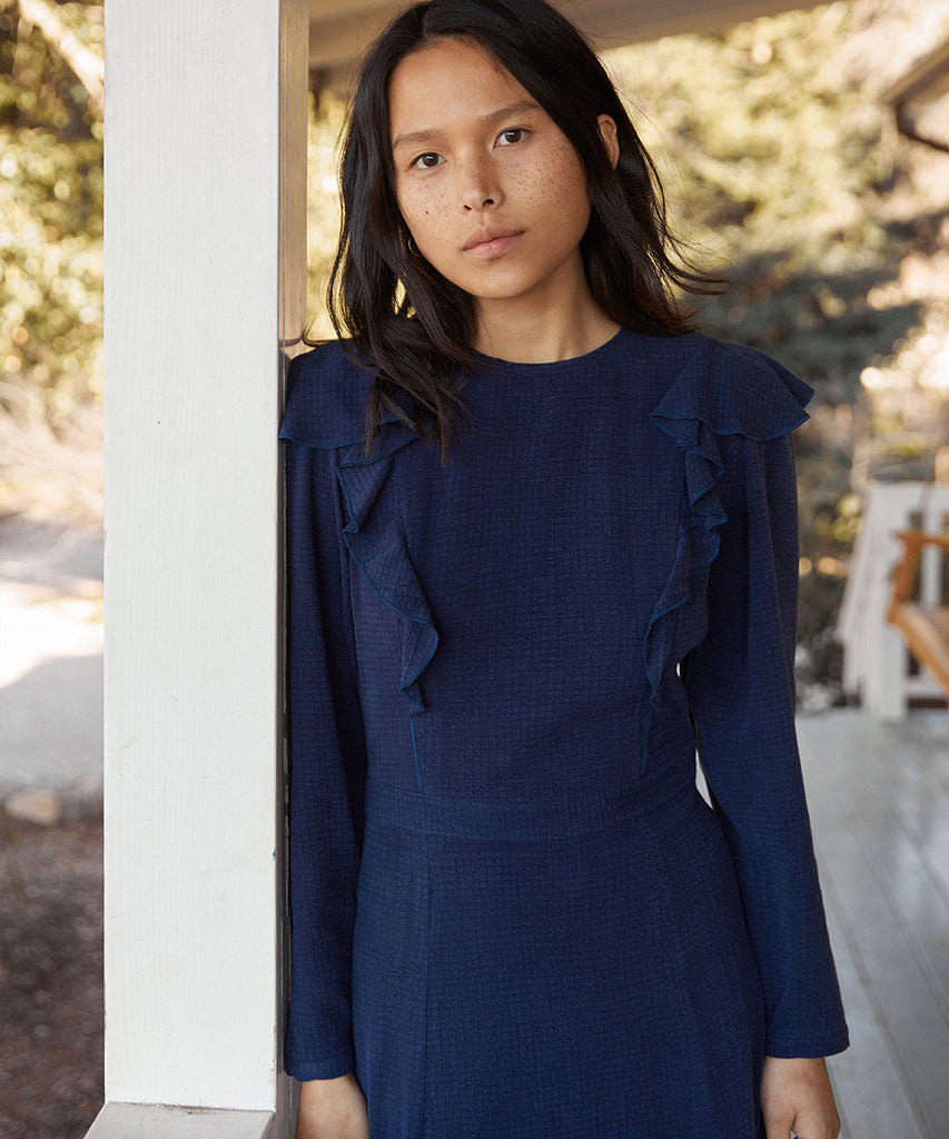 The Mabel Dress | Woven Midnight image 4