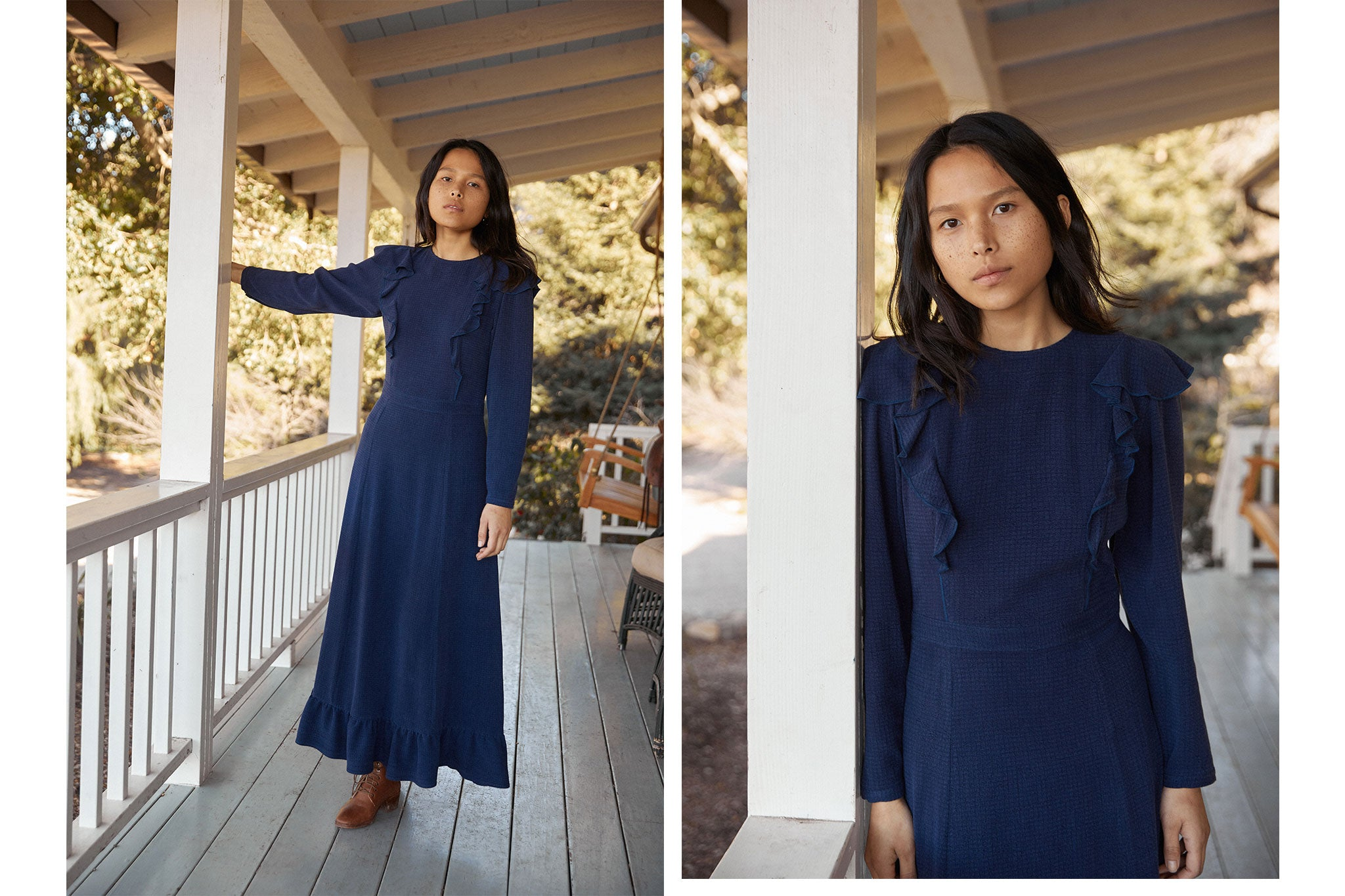 The Mabel Dress | Woven Midnight