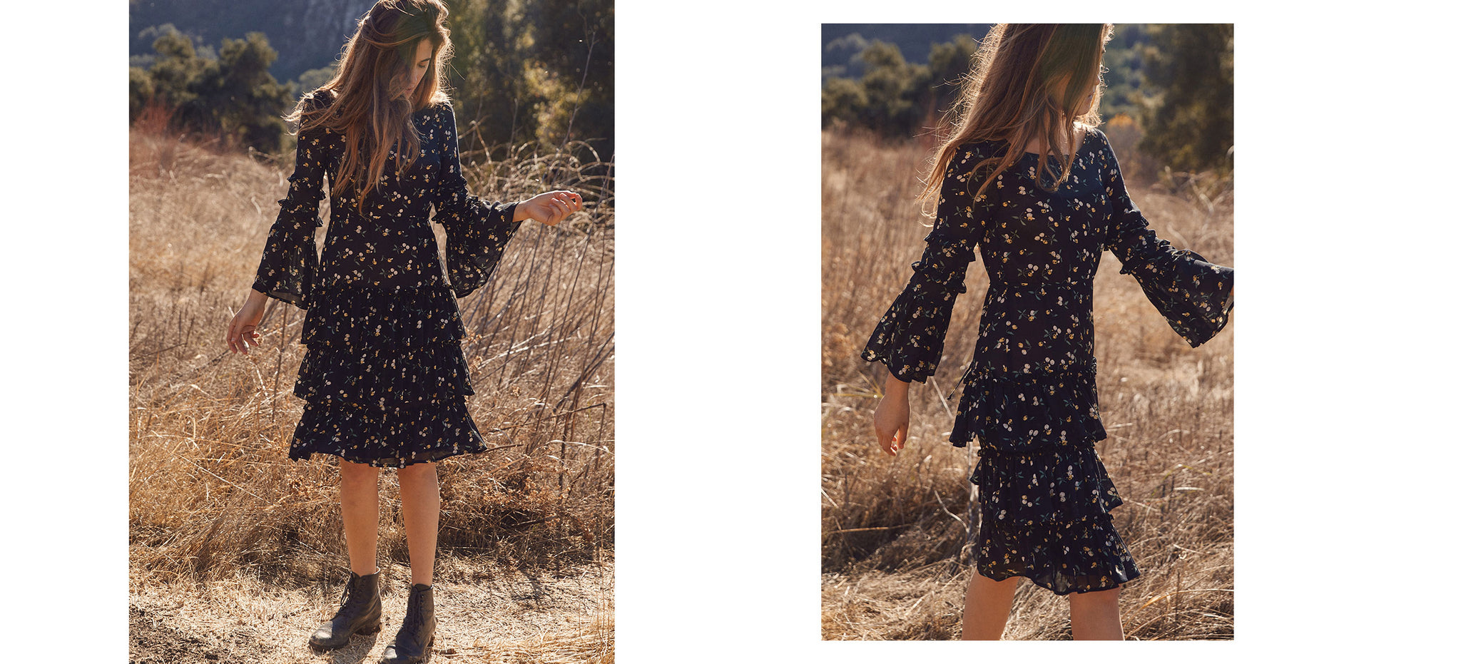 The Magnolia Dress | Cherry Floral