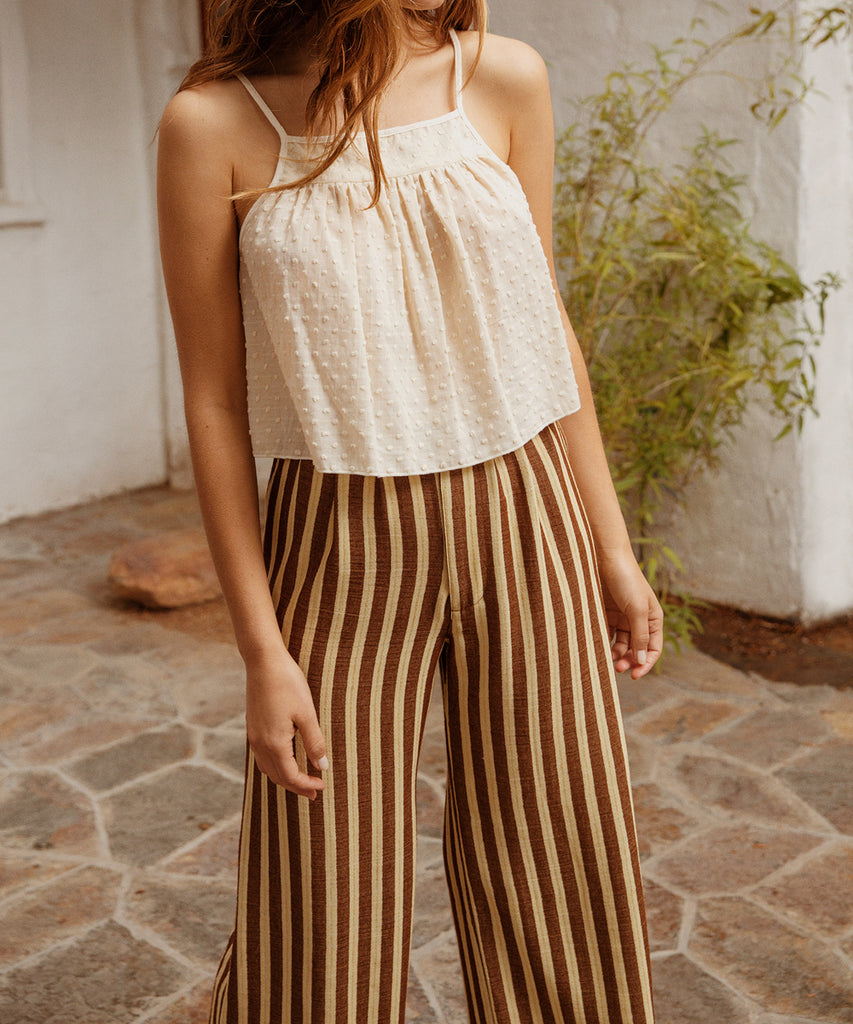 The Mara Trouser | Nutmeg Stripe image 4