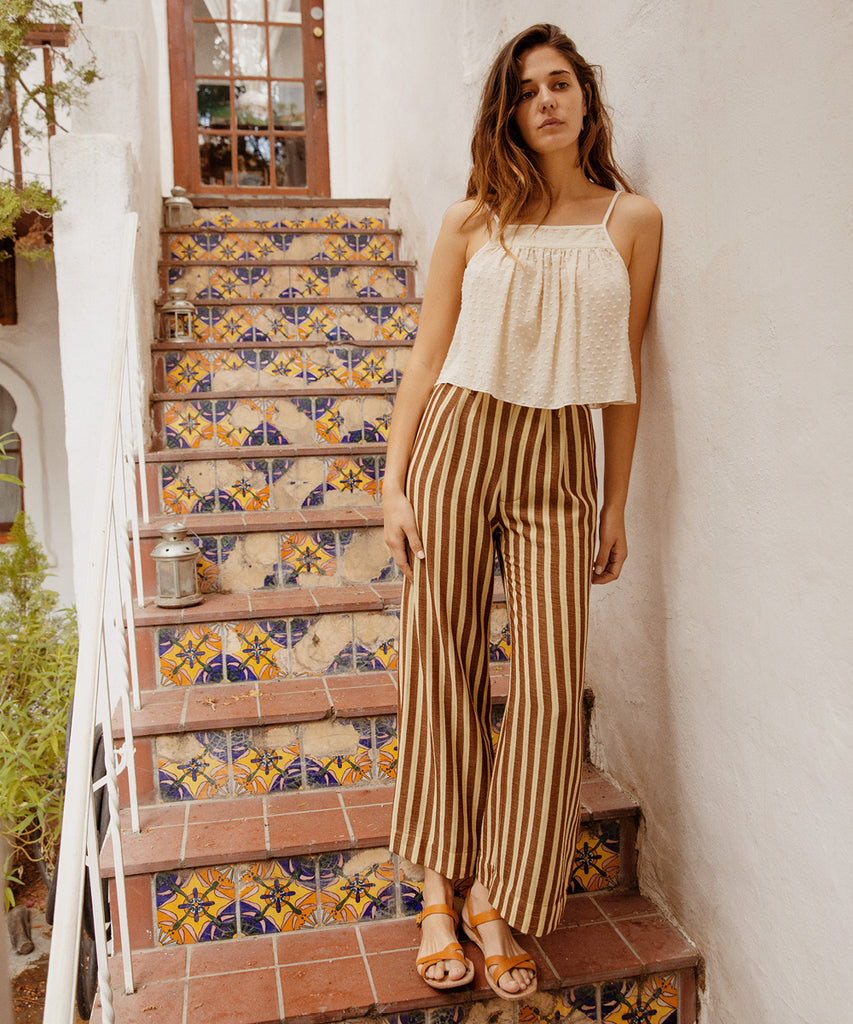 The Mara Trouser | Nutmeg Stripe image 6