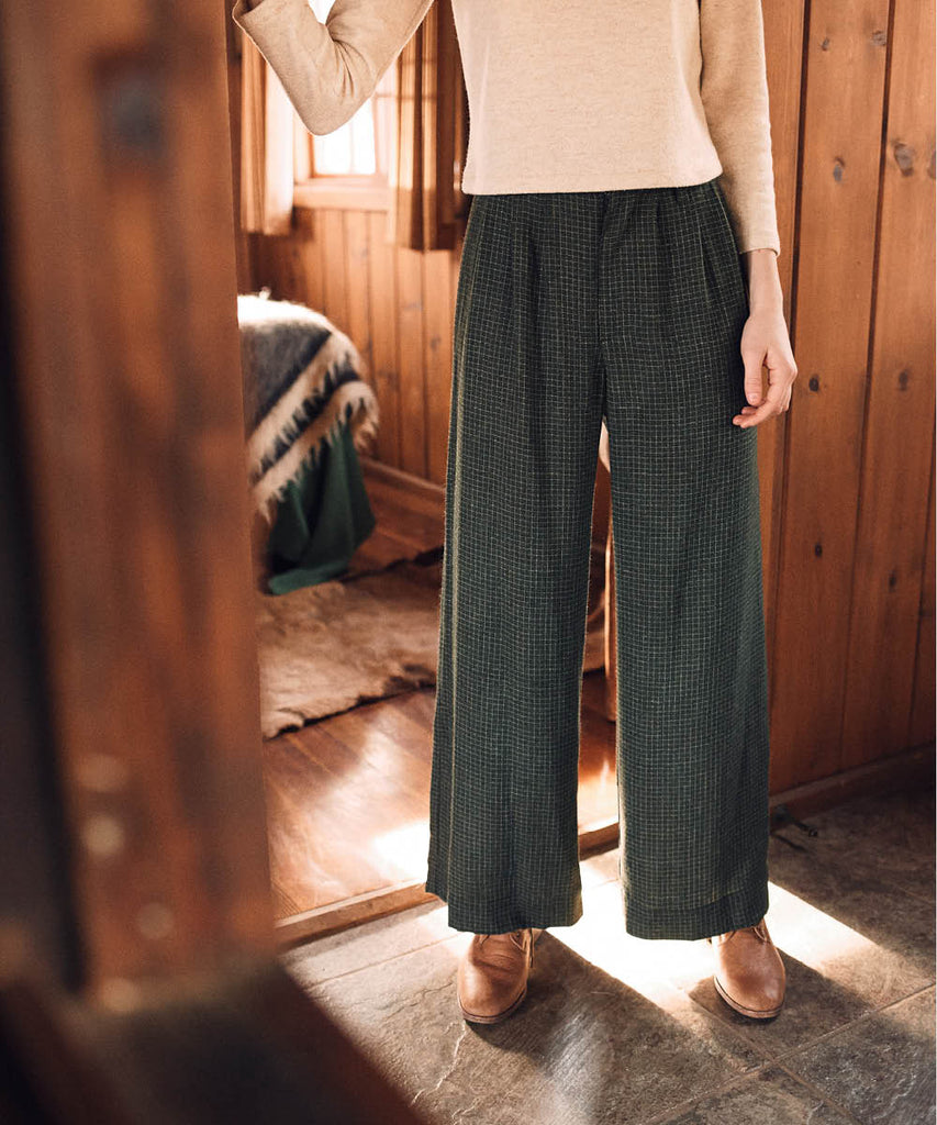 The Mara Trouser | Forest Plaid image 8