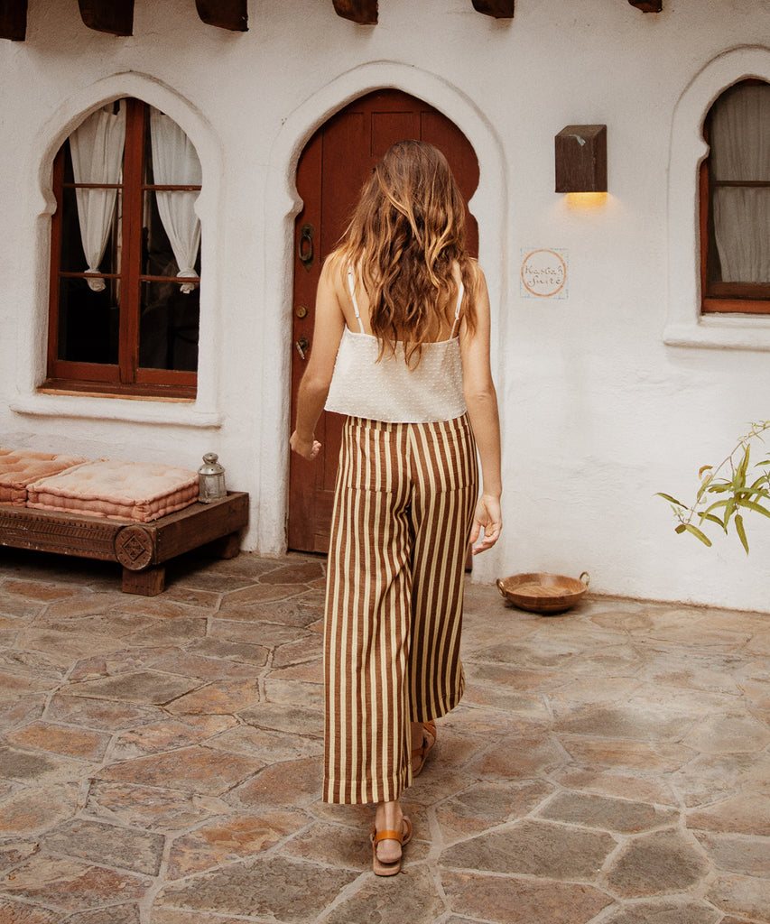 The Mara Trouser | Nutmeg Stripe image 11