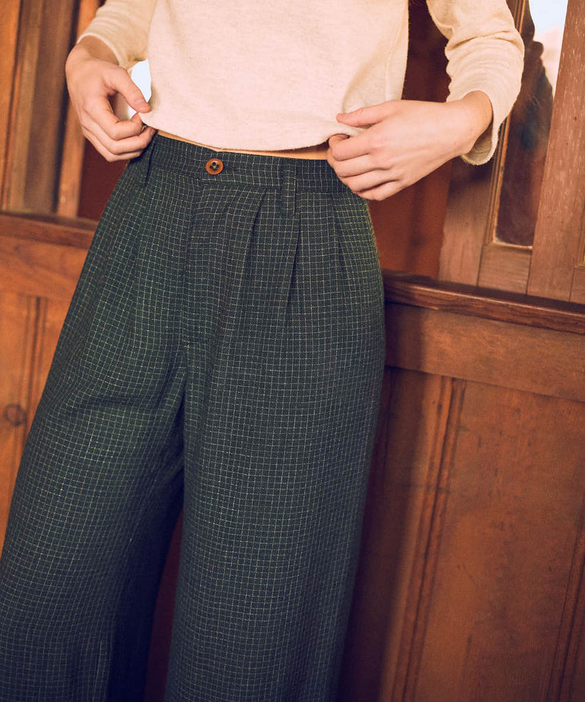 The Mara Trouser | Forest Plaid image 10