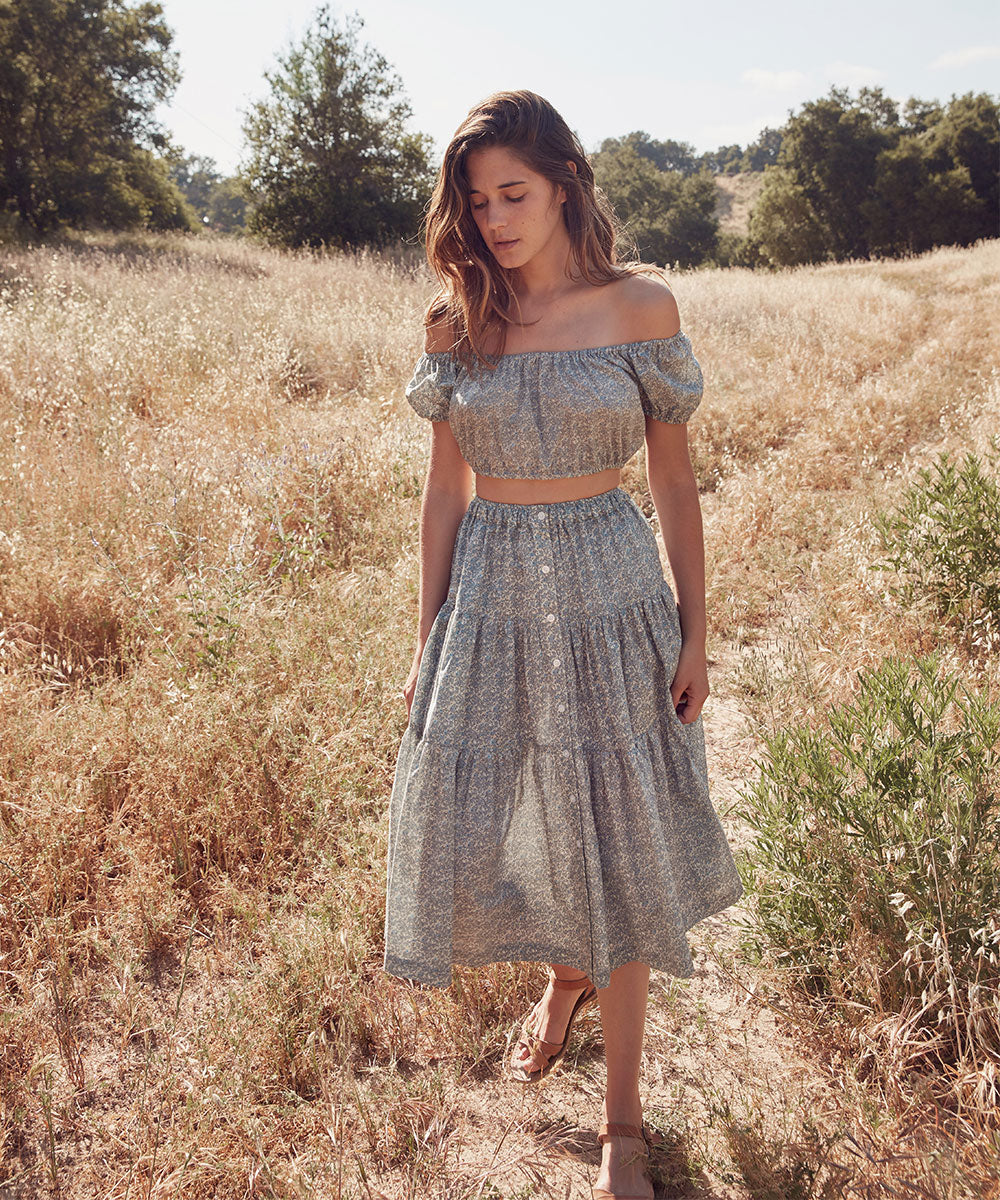 The Margot Two Piece | Calico Mist (Cotton)