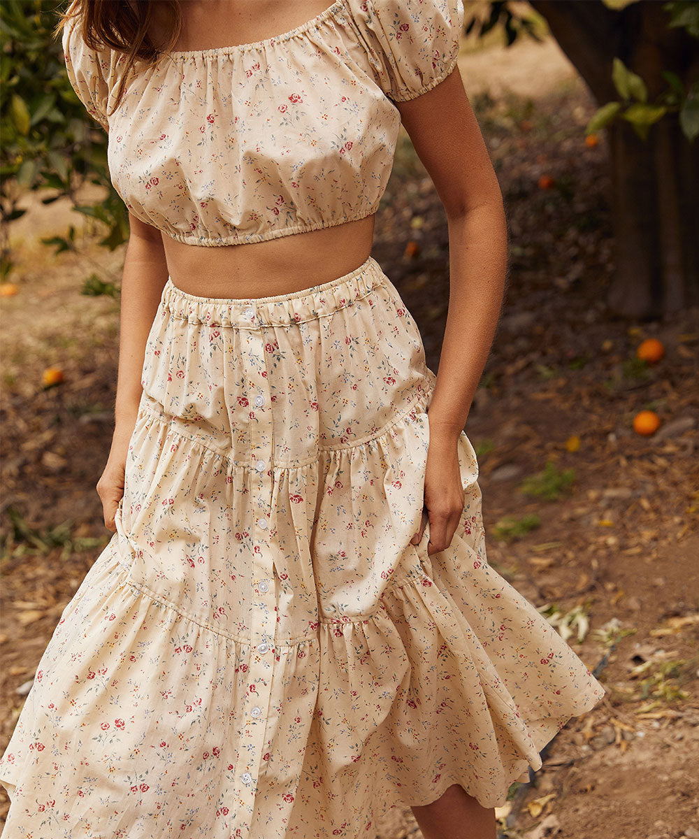 The Margot Two Piece | Cream Rose
