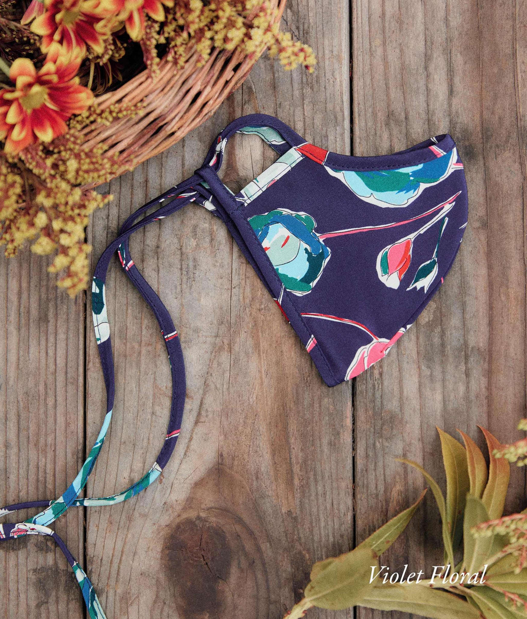 The Sustainable Mask | Adult Floral Silk (Individual Assorted Colors)