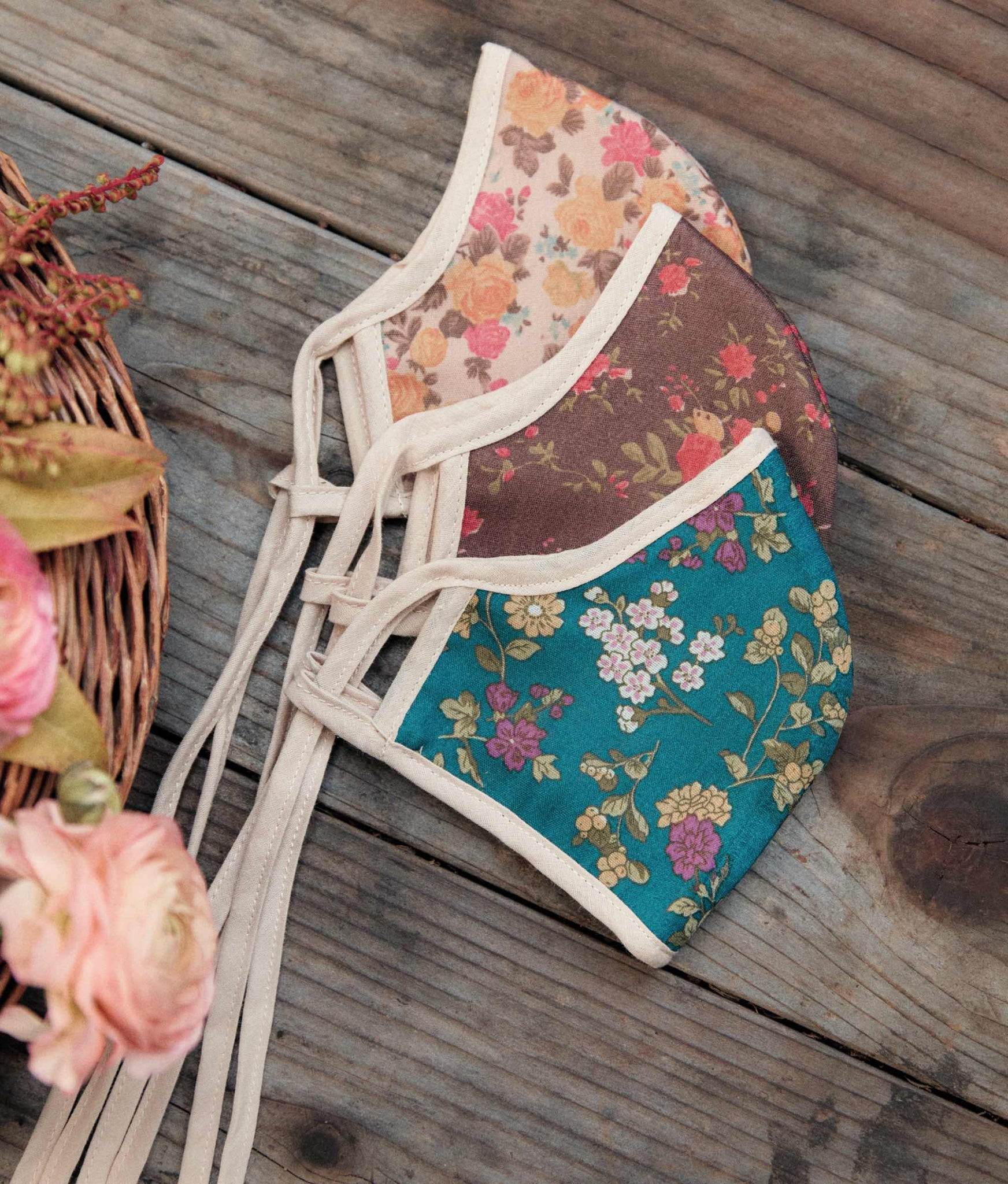 The Sustainable Mask | Adult Vintage Florals 3-Pack