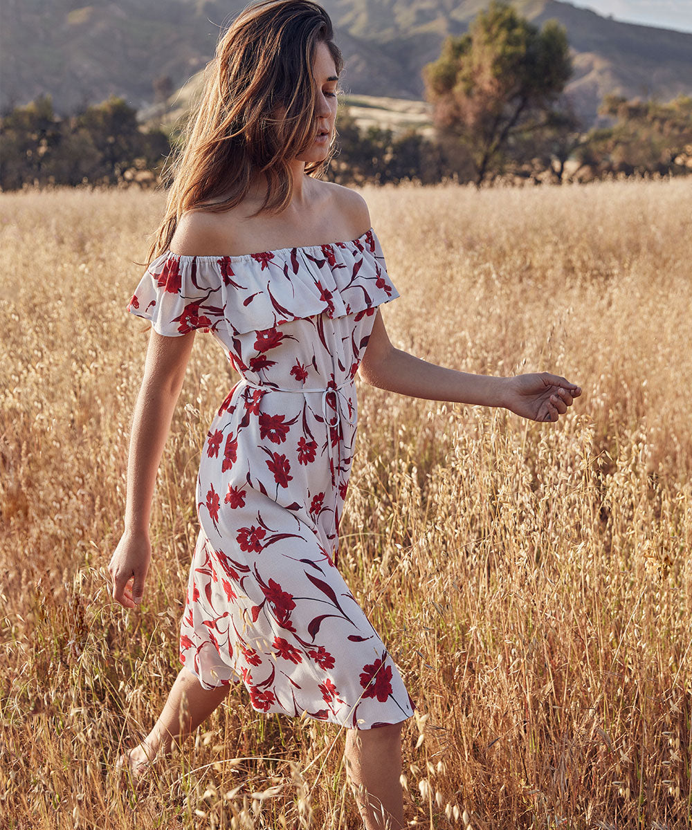 The May Dress | Crimson Floral