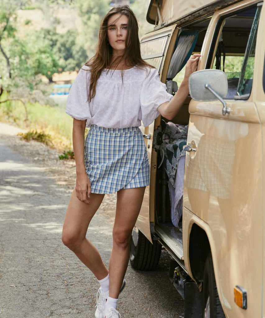 The Molly Skort | Lake Plaid