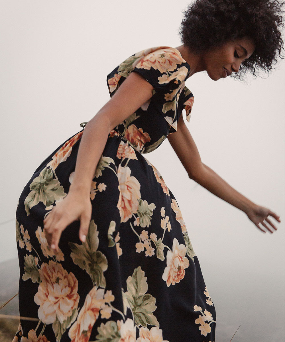 The Monarch Dress | Night Peony
