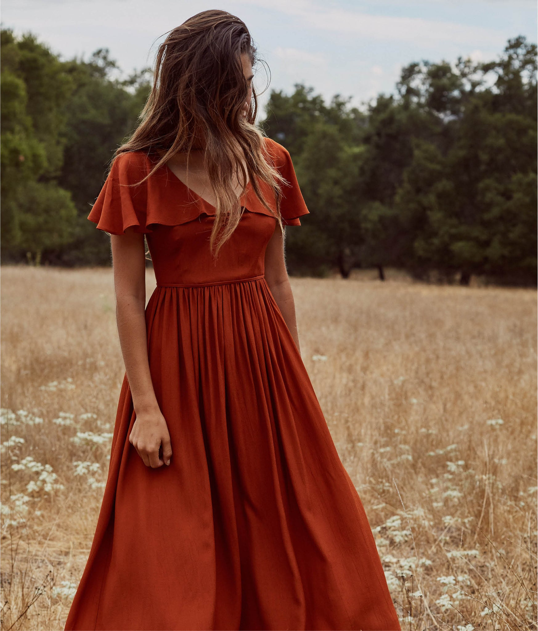 The Monarch Dress | Rust
