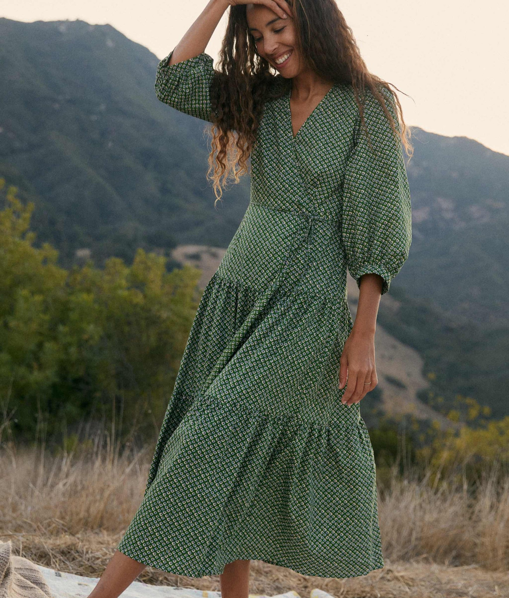 The Noah Dress | Linden Anemone Field