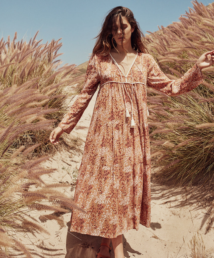 The Paloma Dress | Rust Garden (Lined)