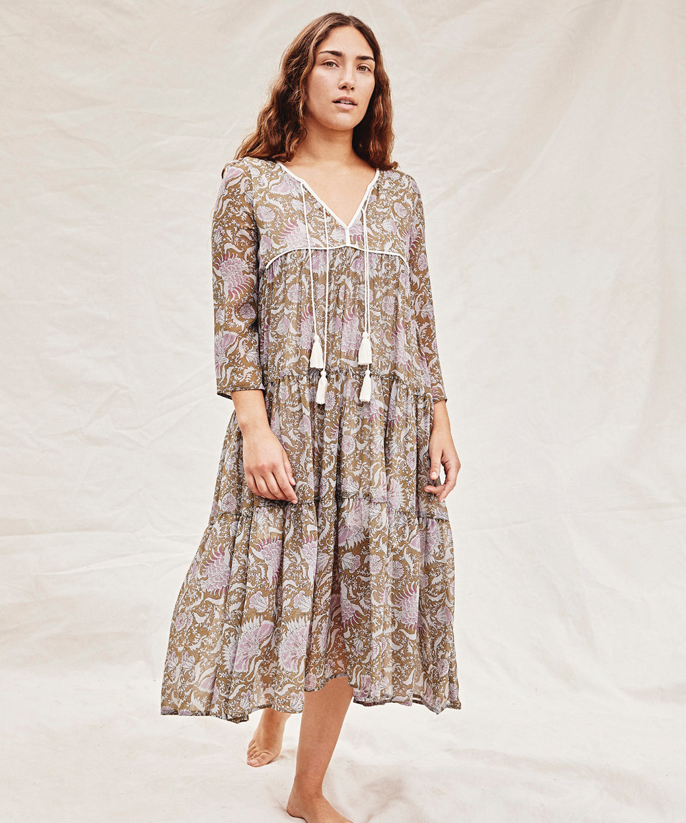 The Paloma Dress Petites | Wisteria Paisley