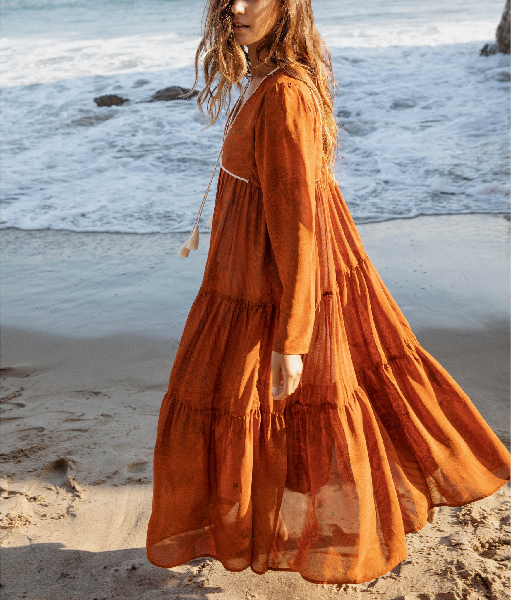 The Paloma Dress | Pumpkin Paisley
